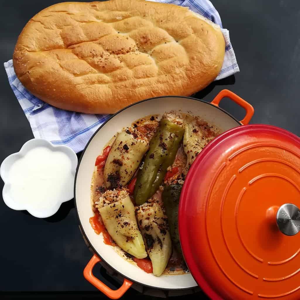 """Plnené papriky na turecký spôsob """"dolmak"""""""