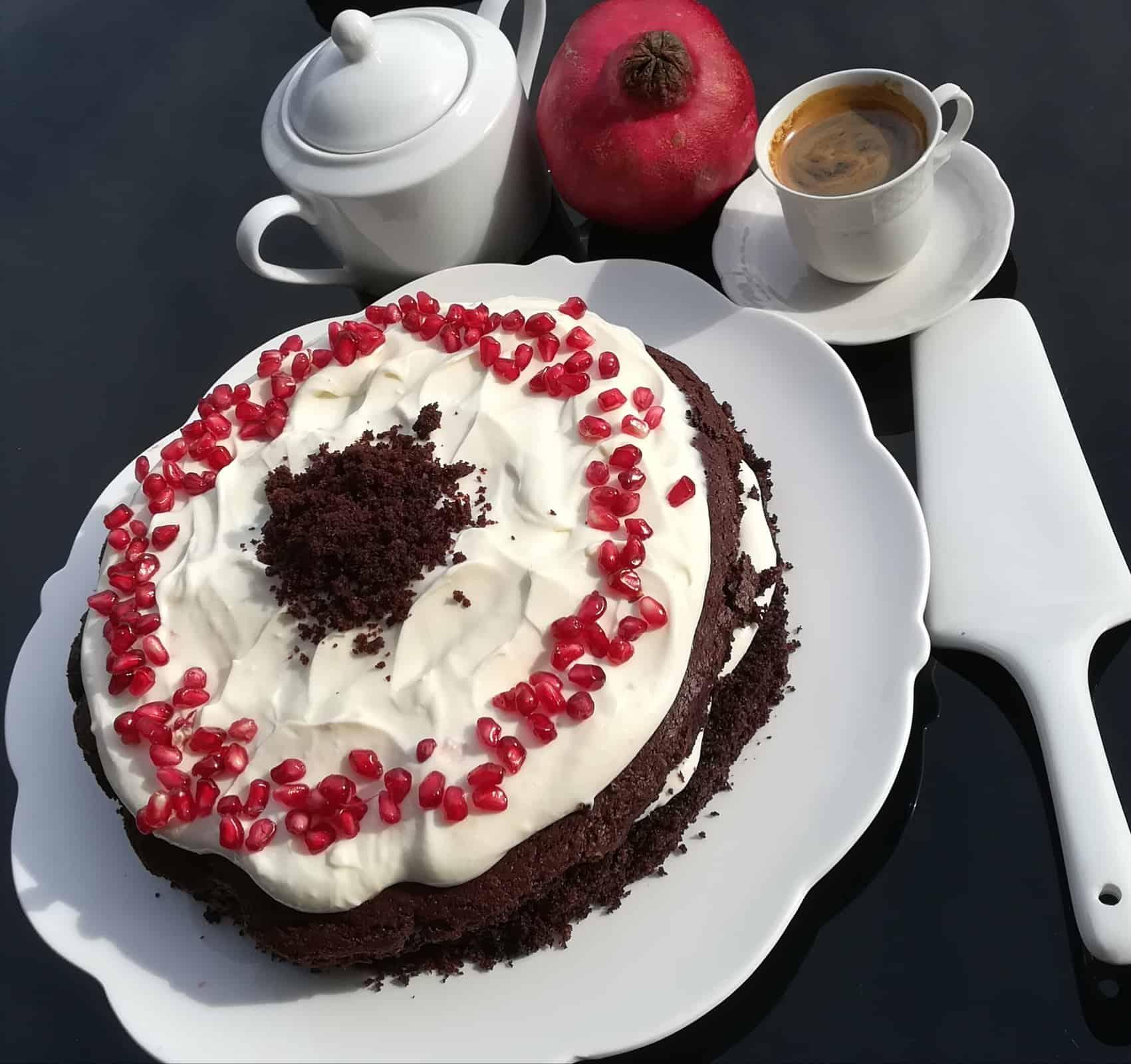 Bezlepková čokoládová torta s citronóvou plnkou