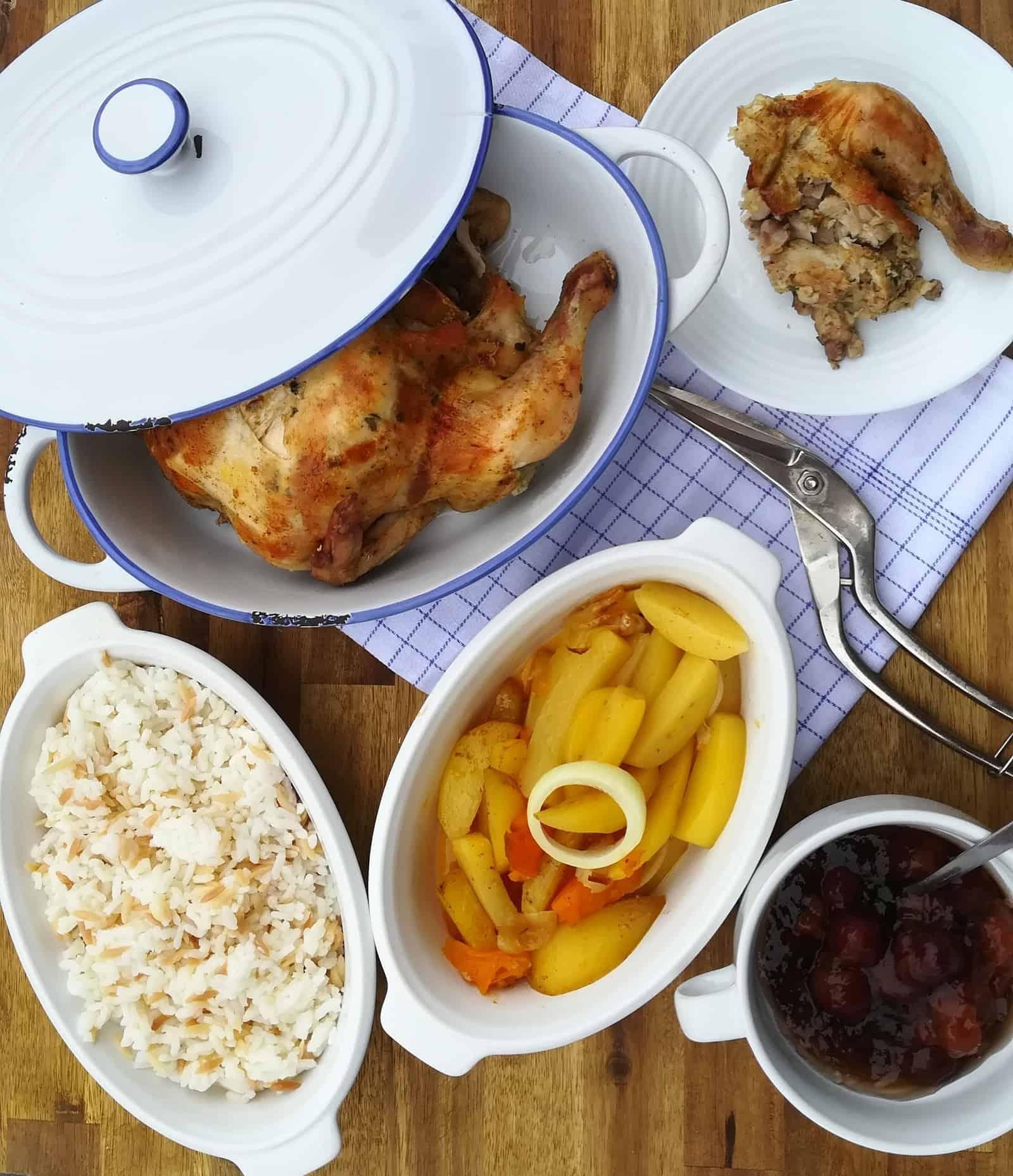 Pečené kurča s plnkou pod kožou