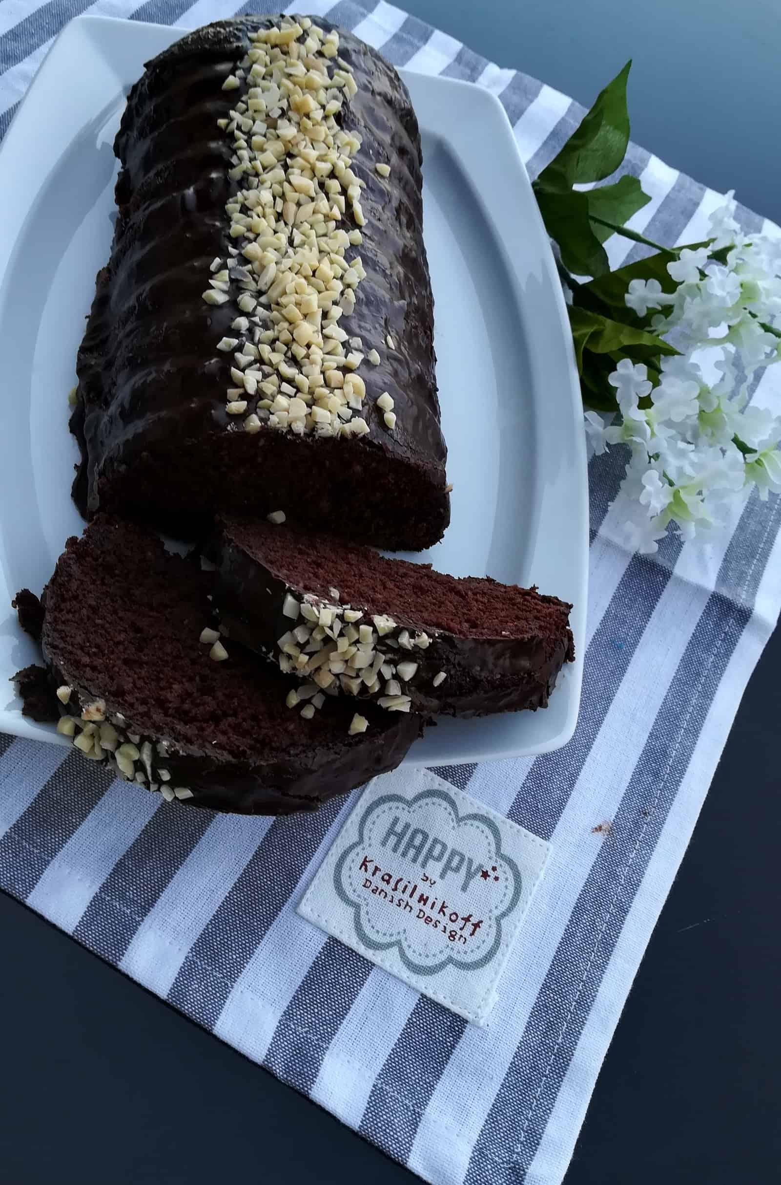 Čokoládová piškóta s mandlami bez múky