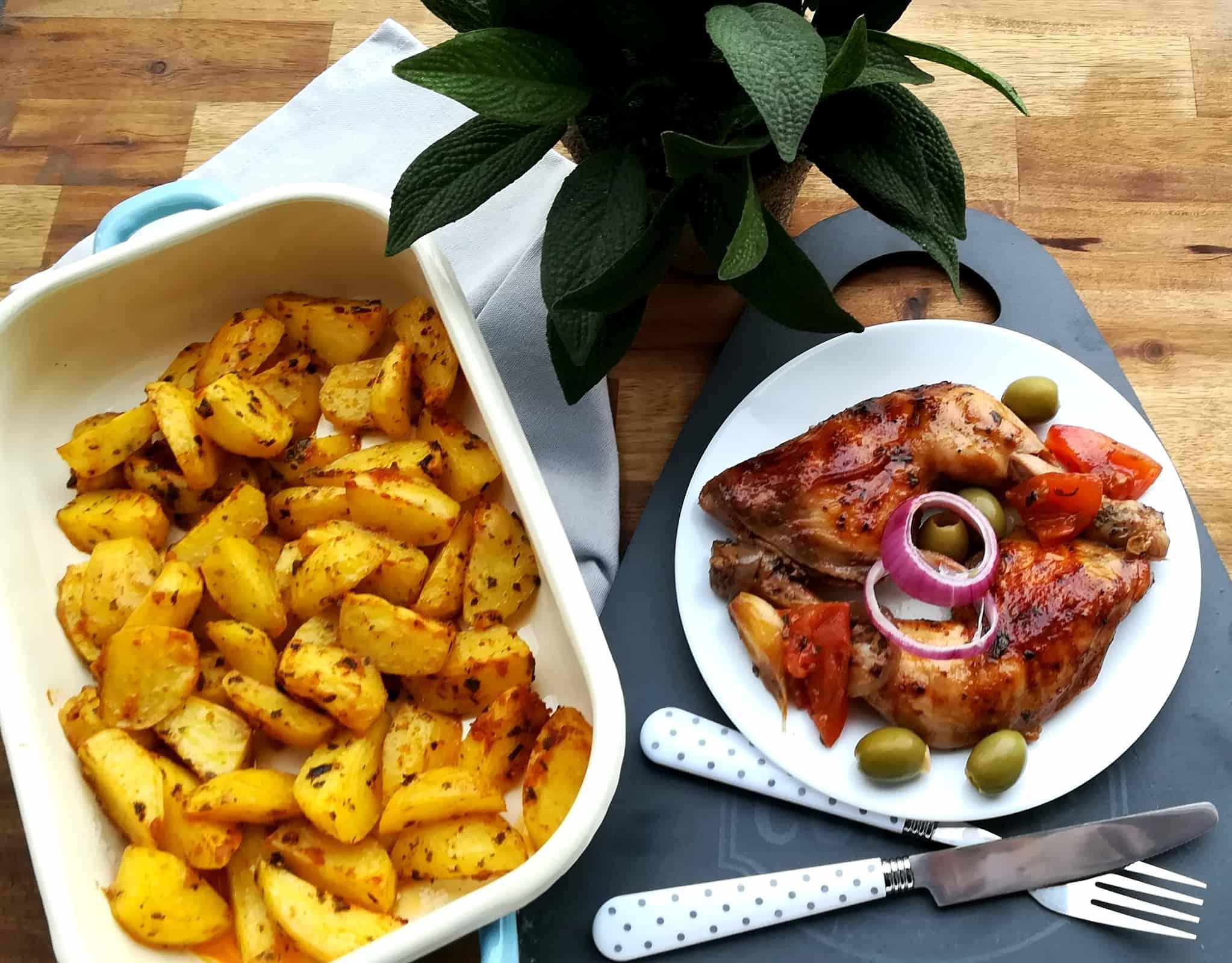 Mediteránske kuracie kúsky a americké zemiaky