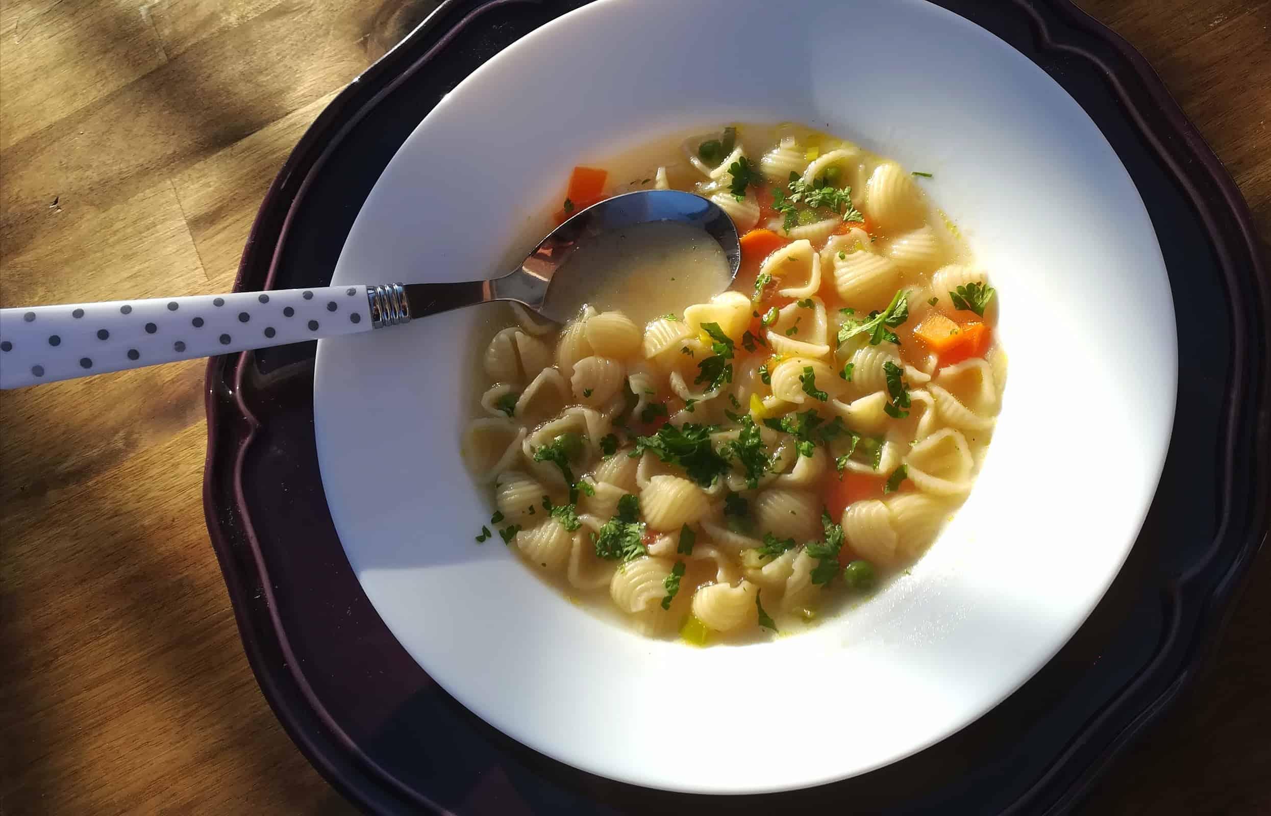 Super rýchla polievka s mušličkami