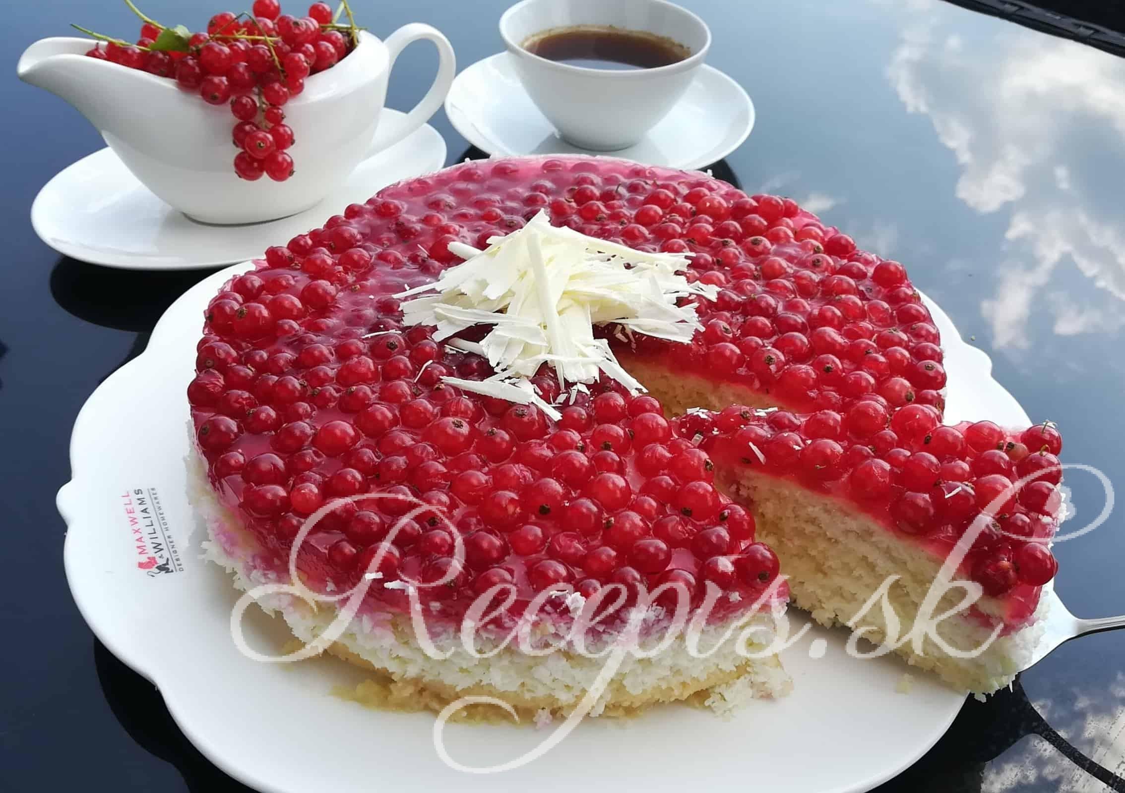 Ríbezľová torta s bielou čokoládou
