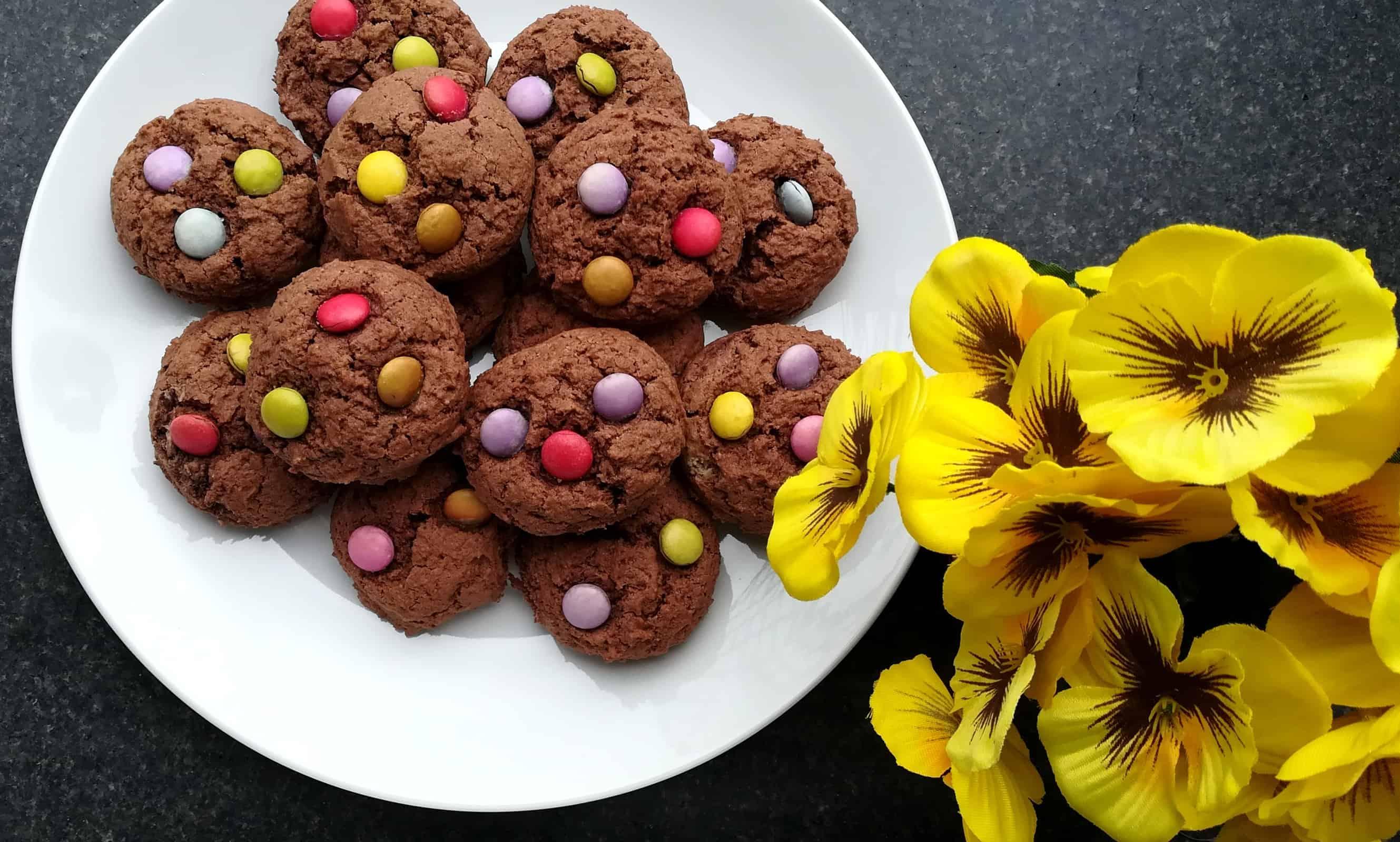 Kakaové cookies bez váženia