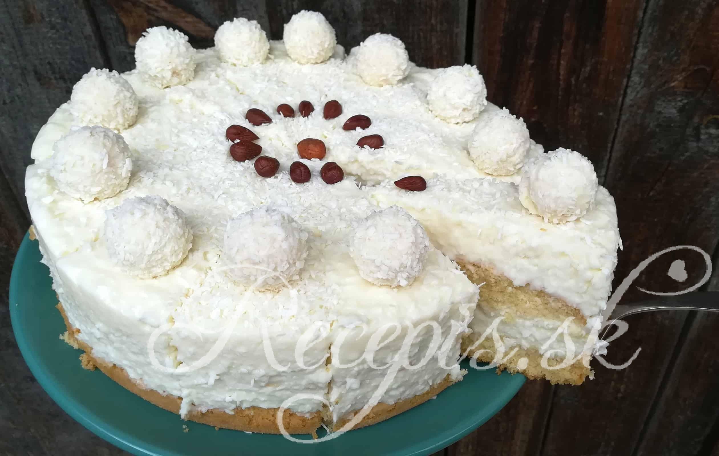 Lahodná kokosová Raffaello torta