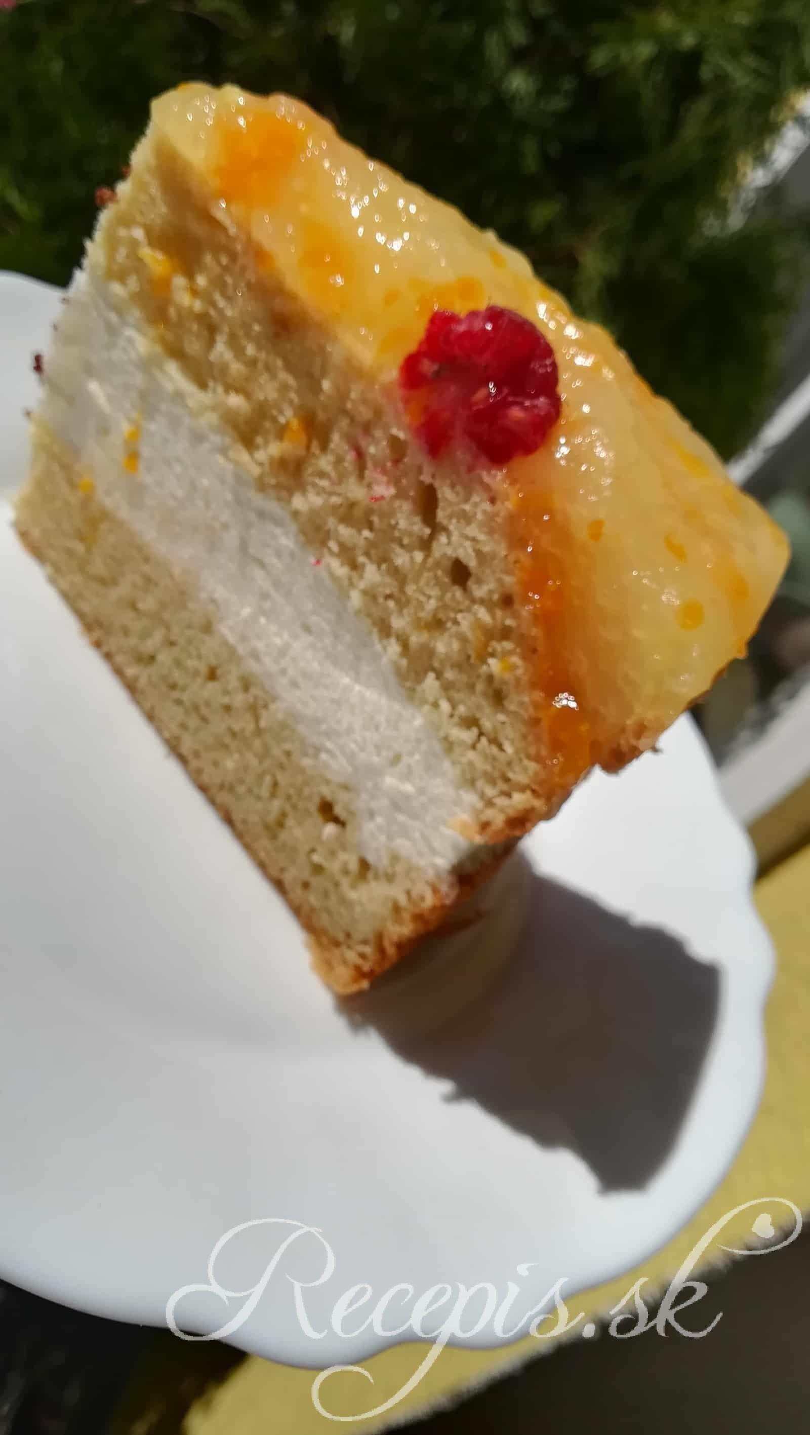 Svieža šľahačková torta s ovocím