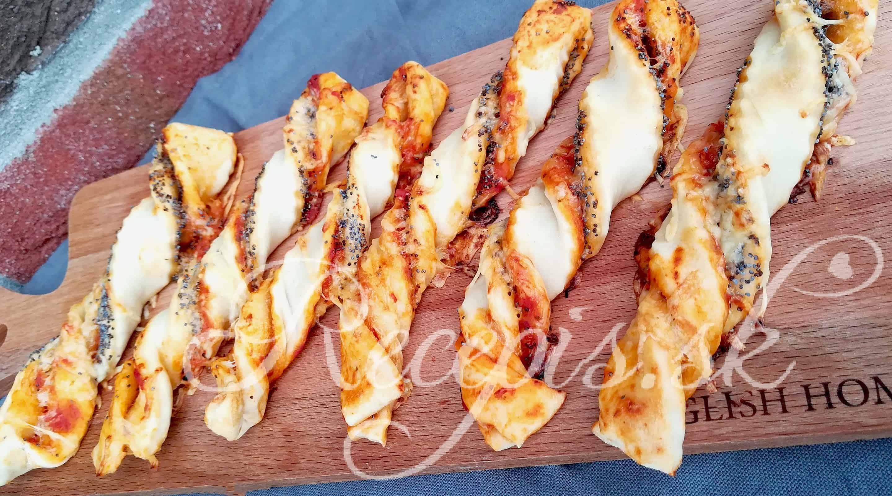 Pizza tyčinky s makom