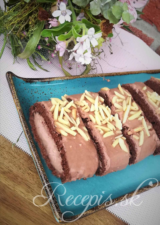 Kakaová roláda s čokoládovou pudingovou plnkou