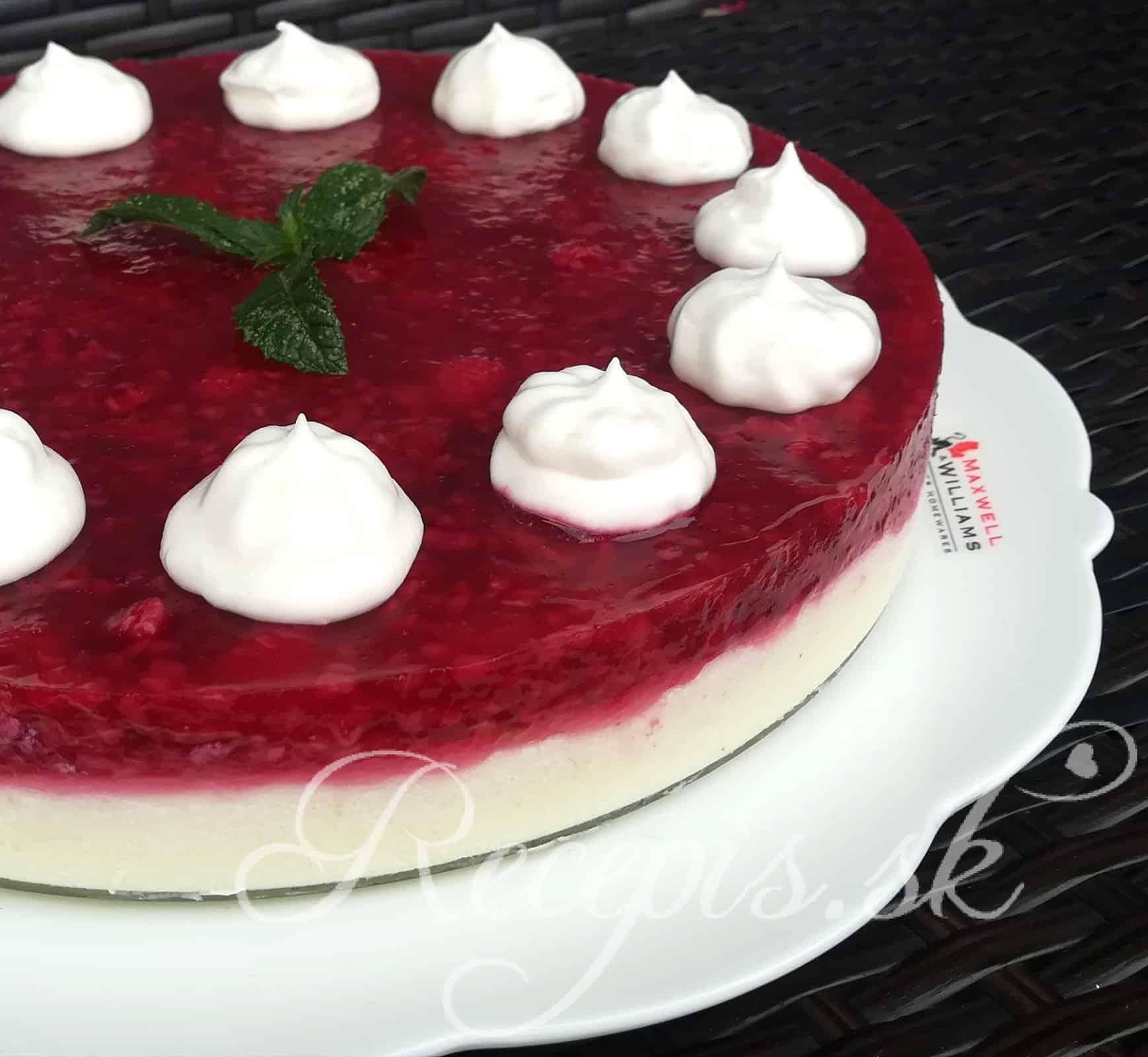 Nepečná krupicová ovocná torta bez váženia