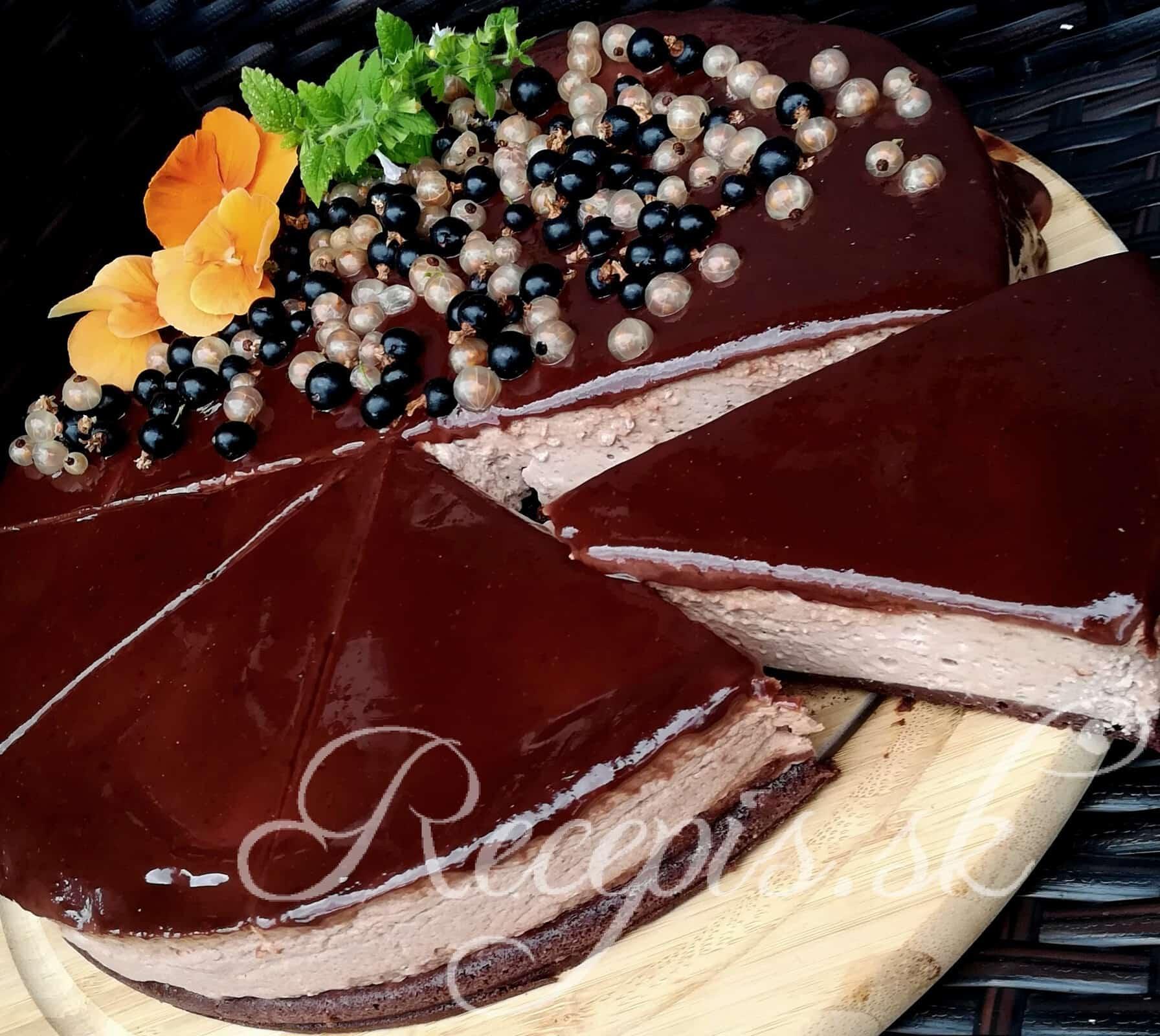 Čokoládový Cheesecake s polevou