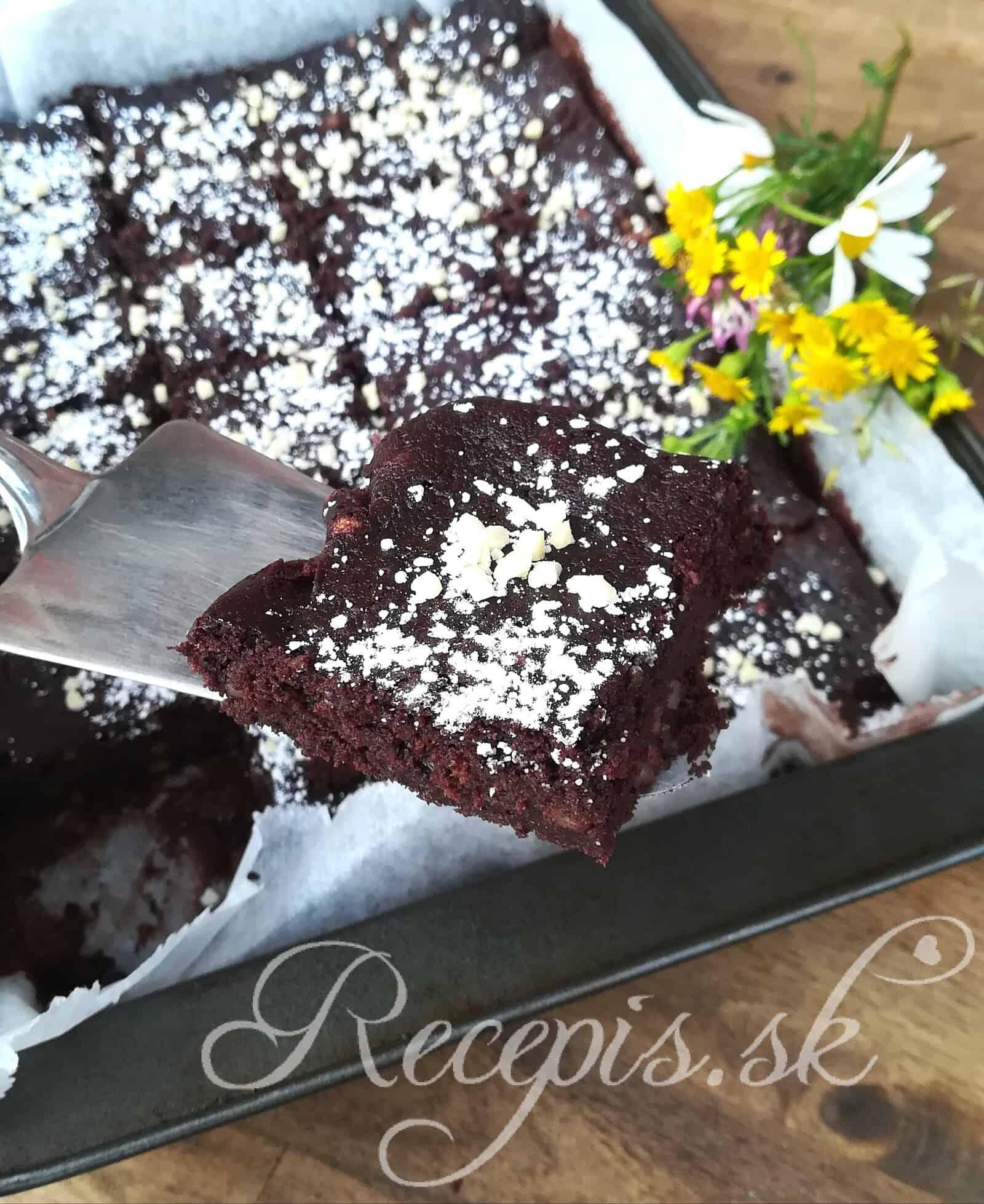 Cuketové Brownies bez váženia