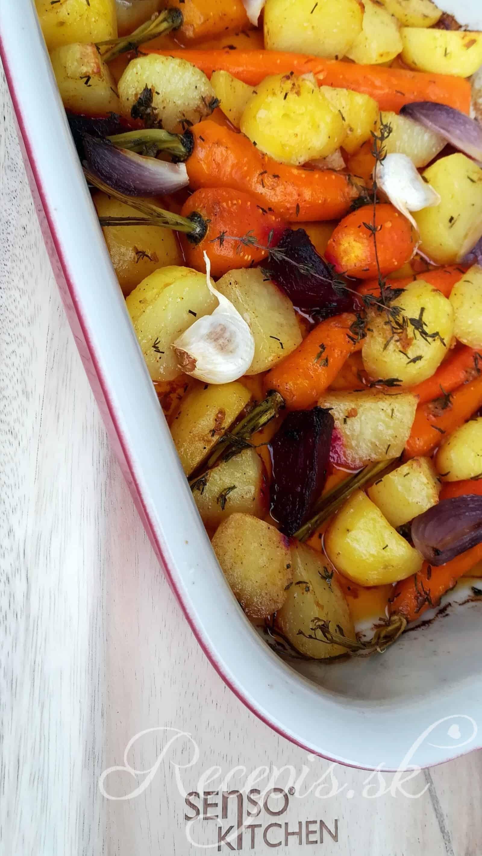 Pečená zelenina z jedného plechu