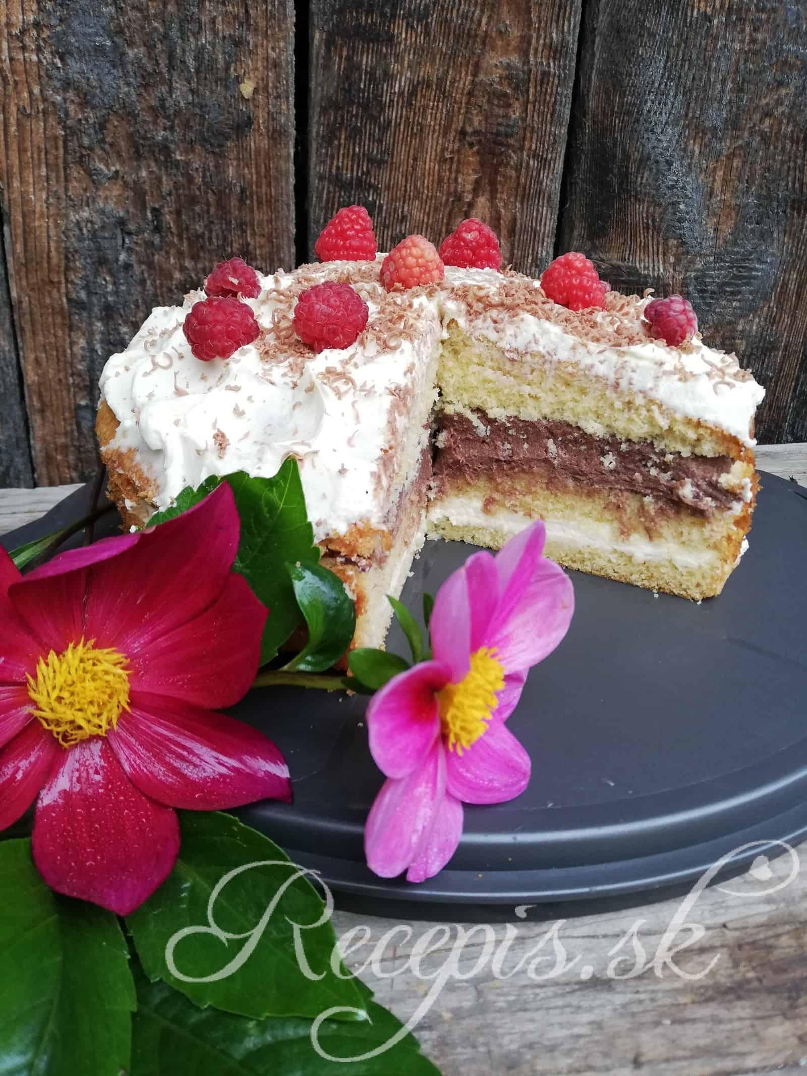 Dvojfarebná mascarpone   torta