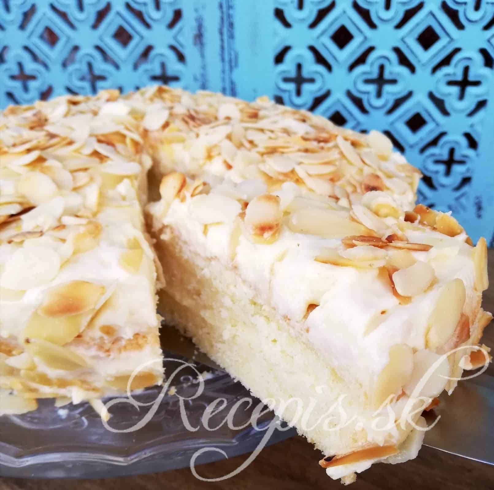 Výborná torta s mandľami