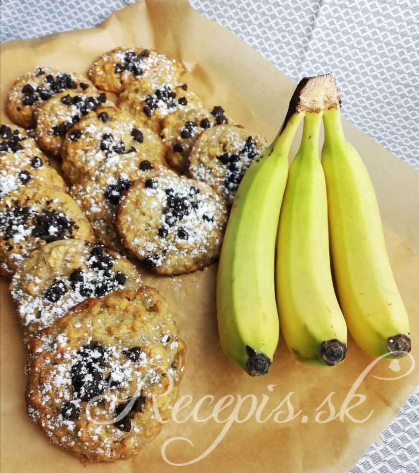 Banánové cookies s vločkami bez váženia