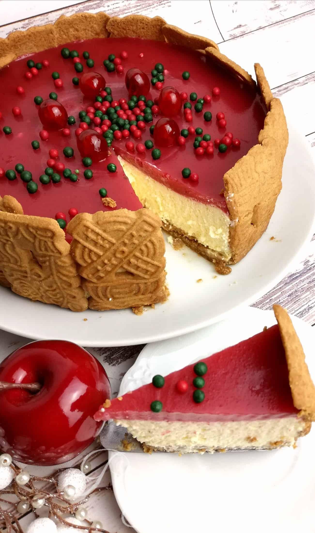 Vianočný cheesecake zo salka