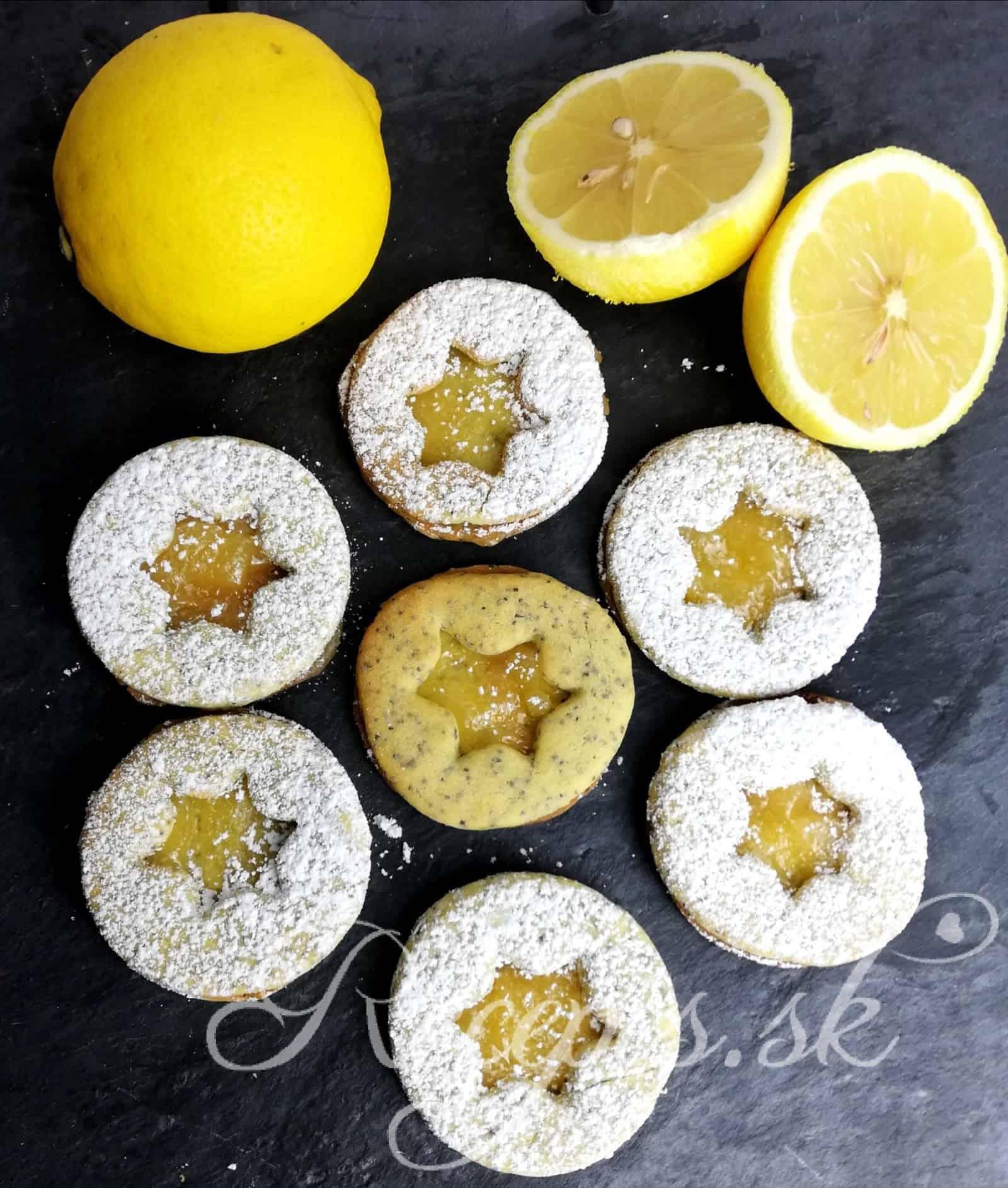 Makové citrónové vianočné pečivo s lemon curd