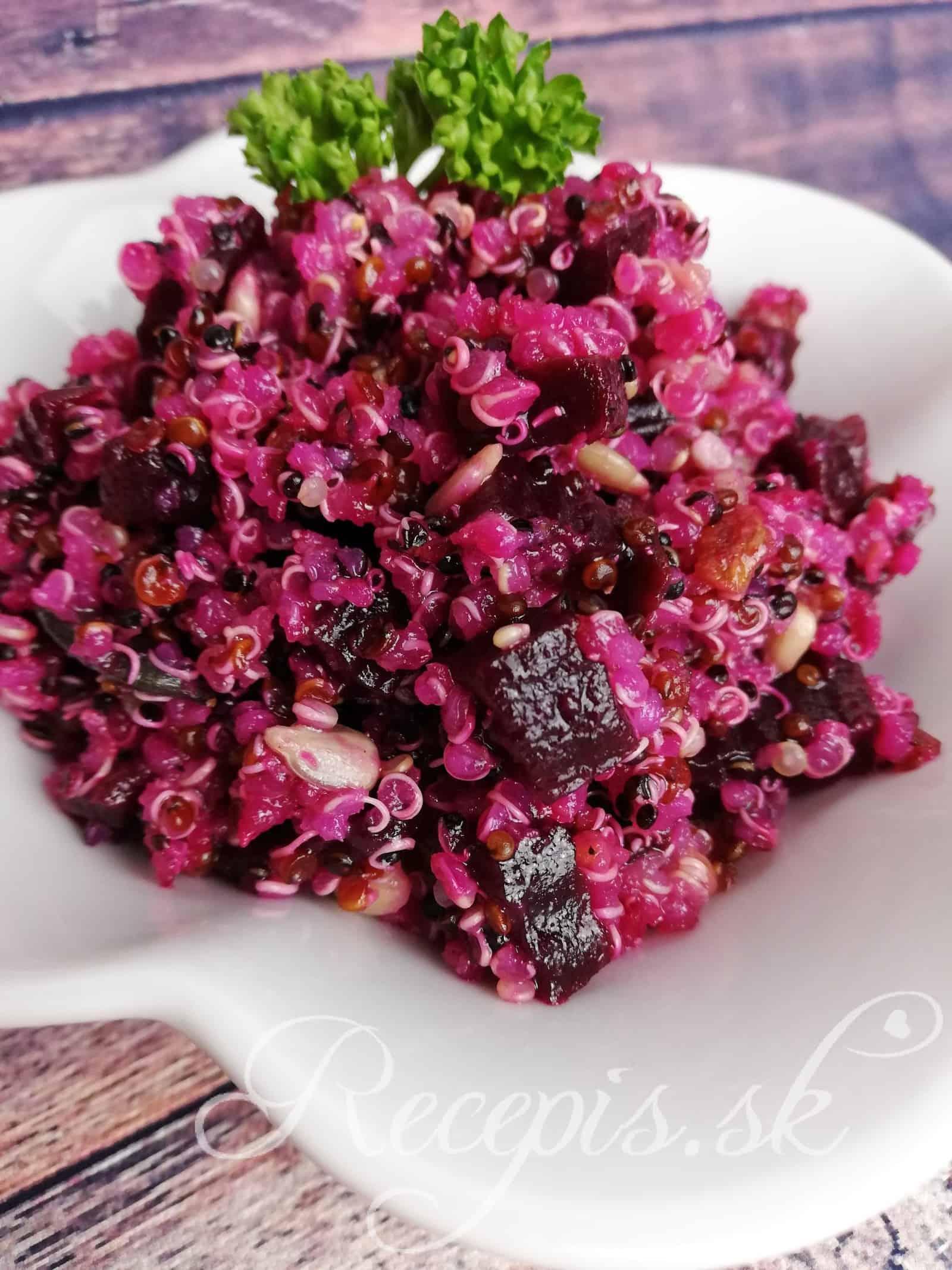 Rote Quinoa Salat