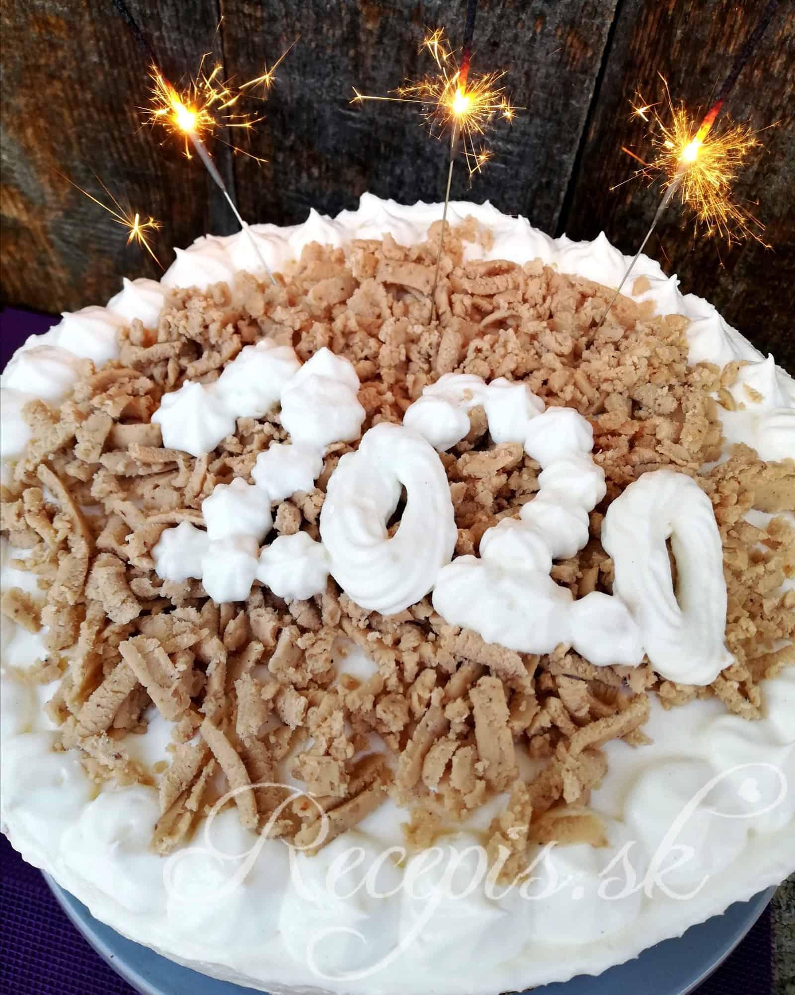 Novoročná slávnostná gaštanová torta