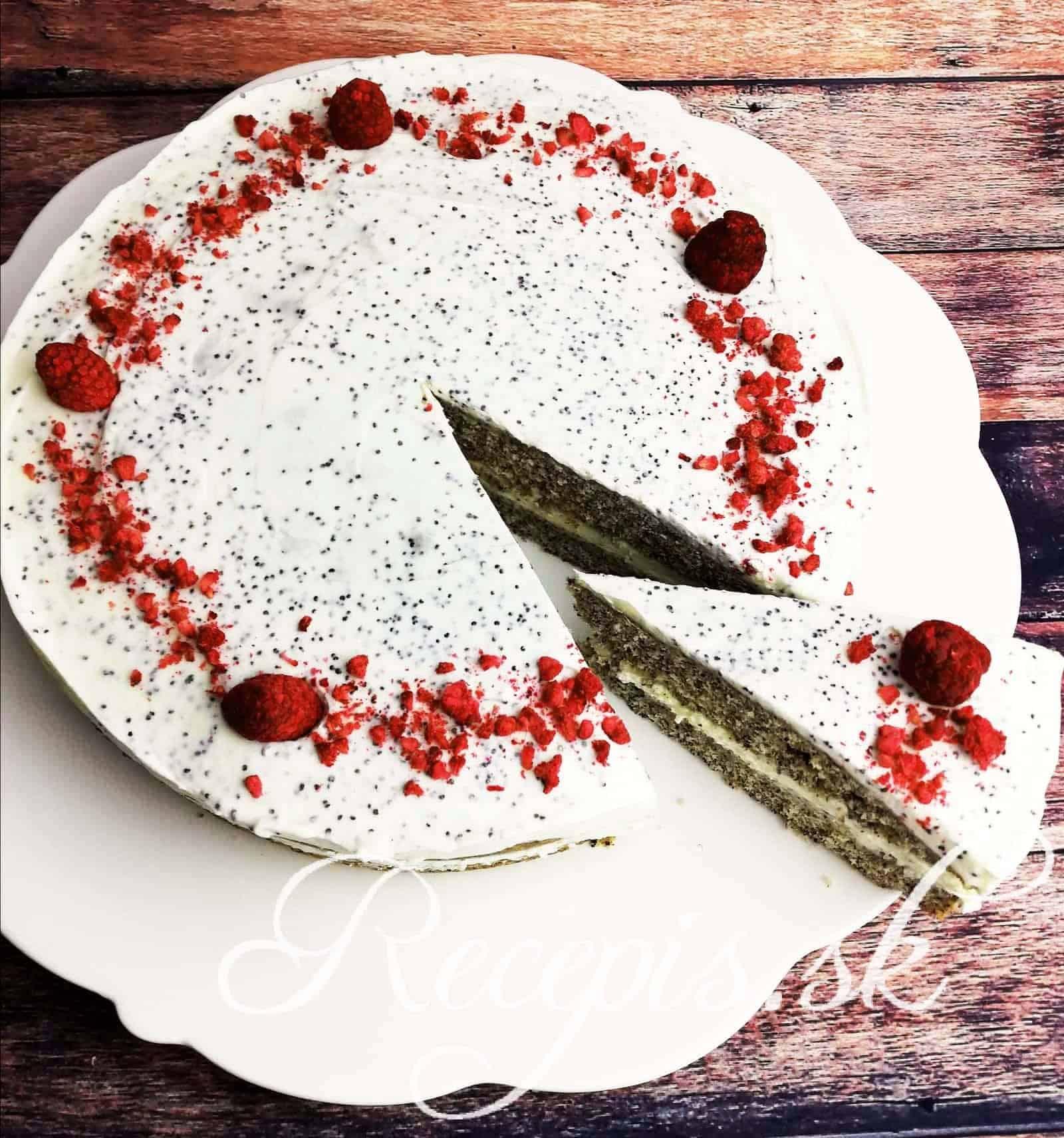 Maková torta s makovou plnkou bez váženia