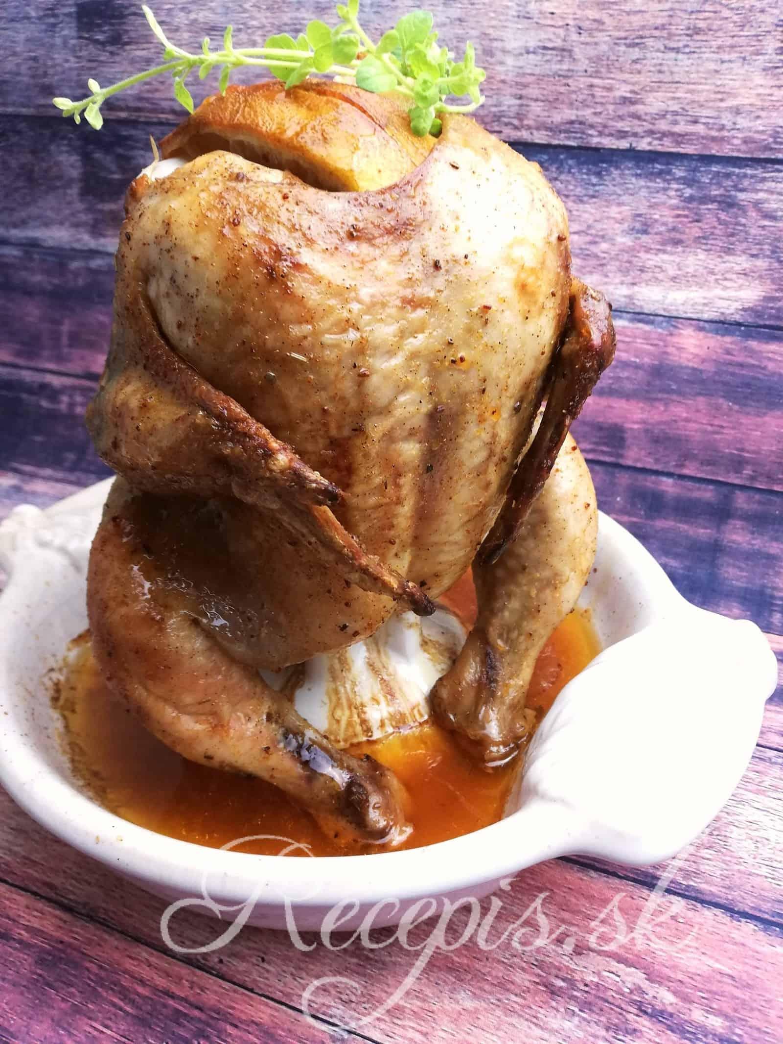 Diétne kurča pečené na stojato