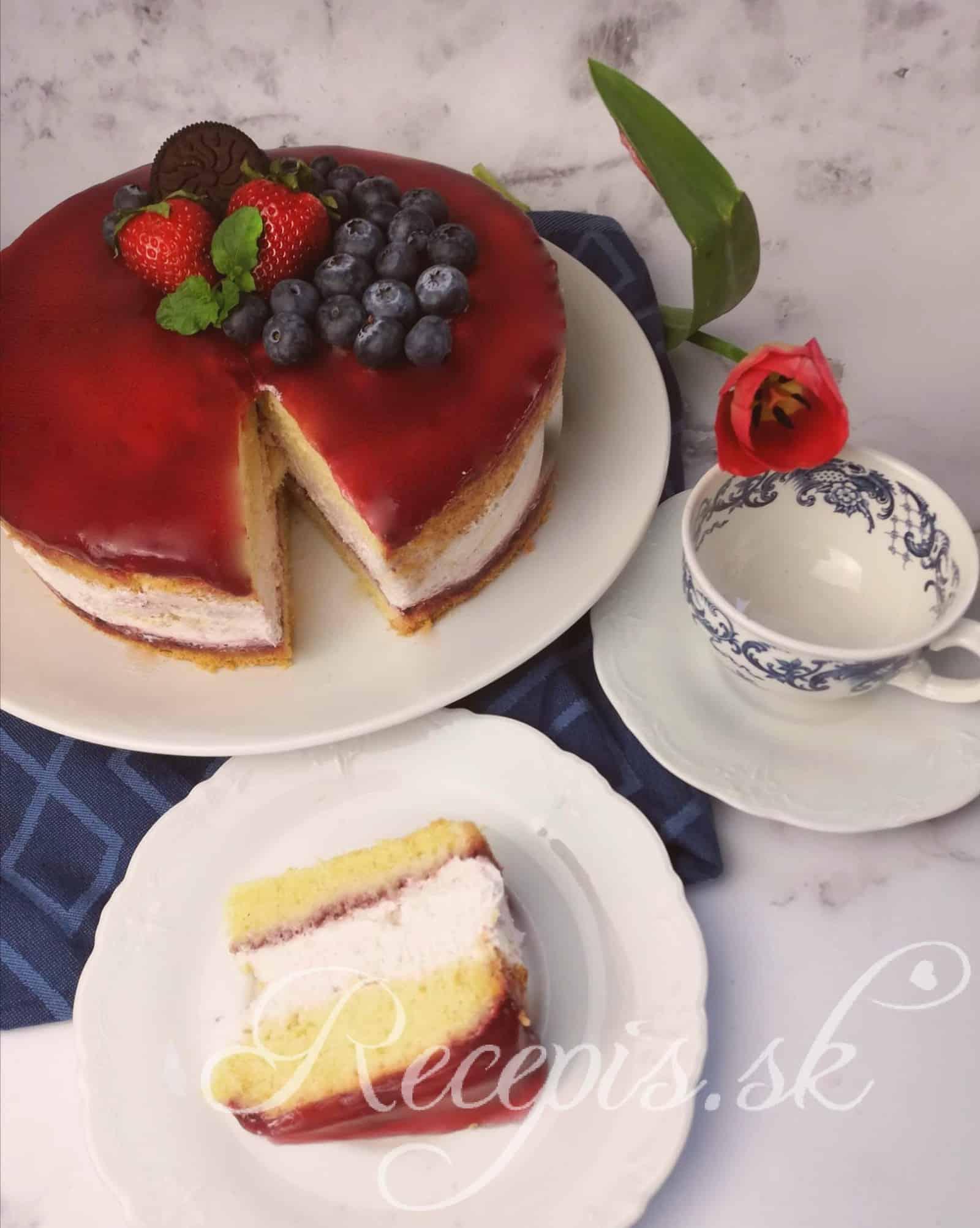 Nedeľná torta s tvarohom