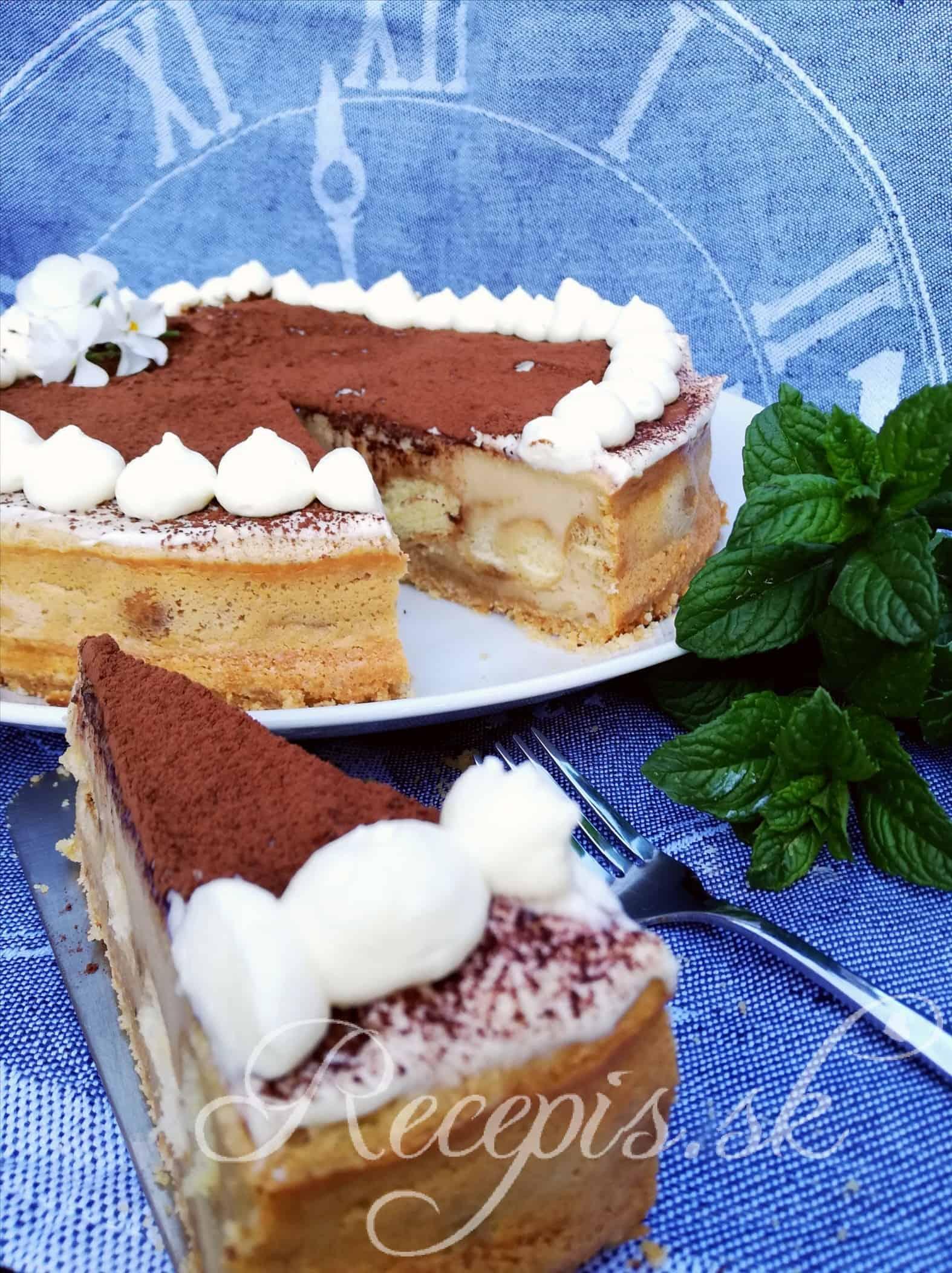 Pečený Tiramissu Cheesecake bez váženia