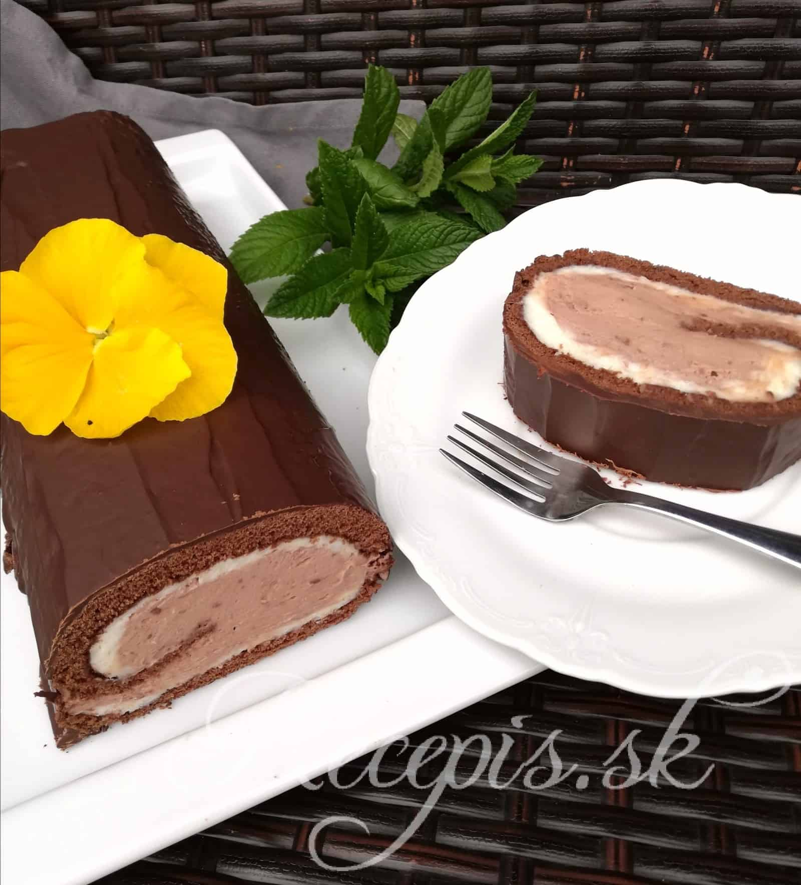 Dvojfarebná kakaová roláda