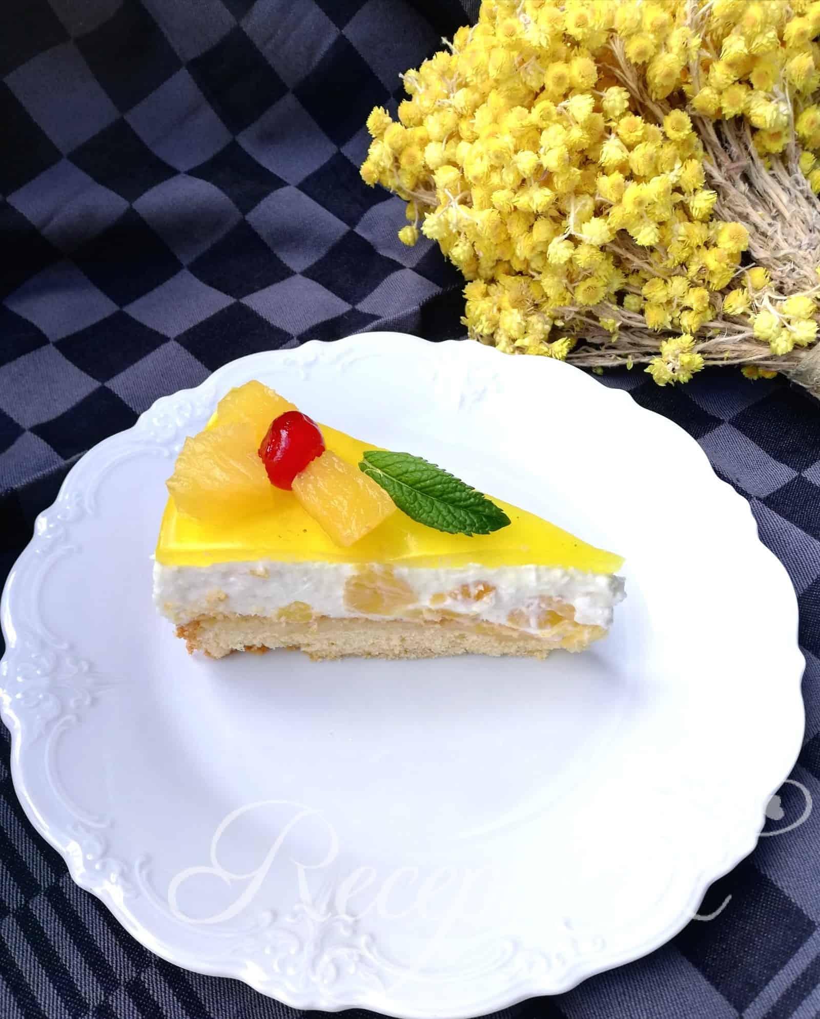 Ananasová torta bez váženia