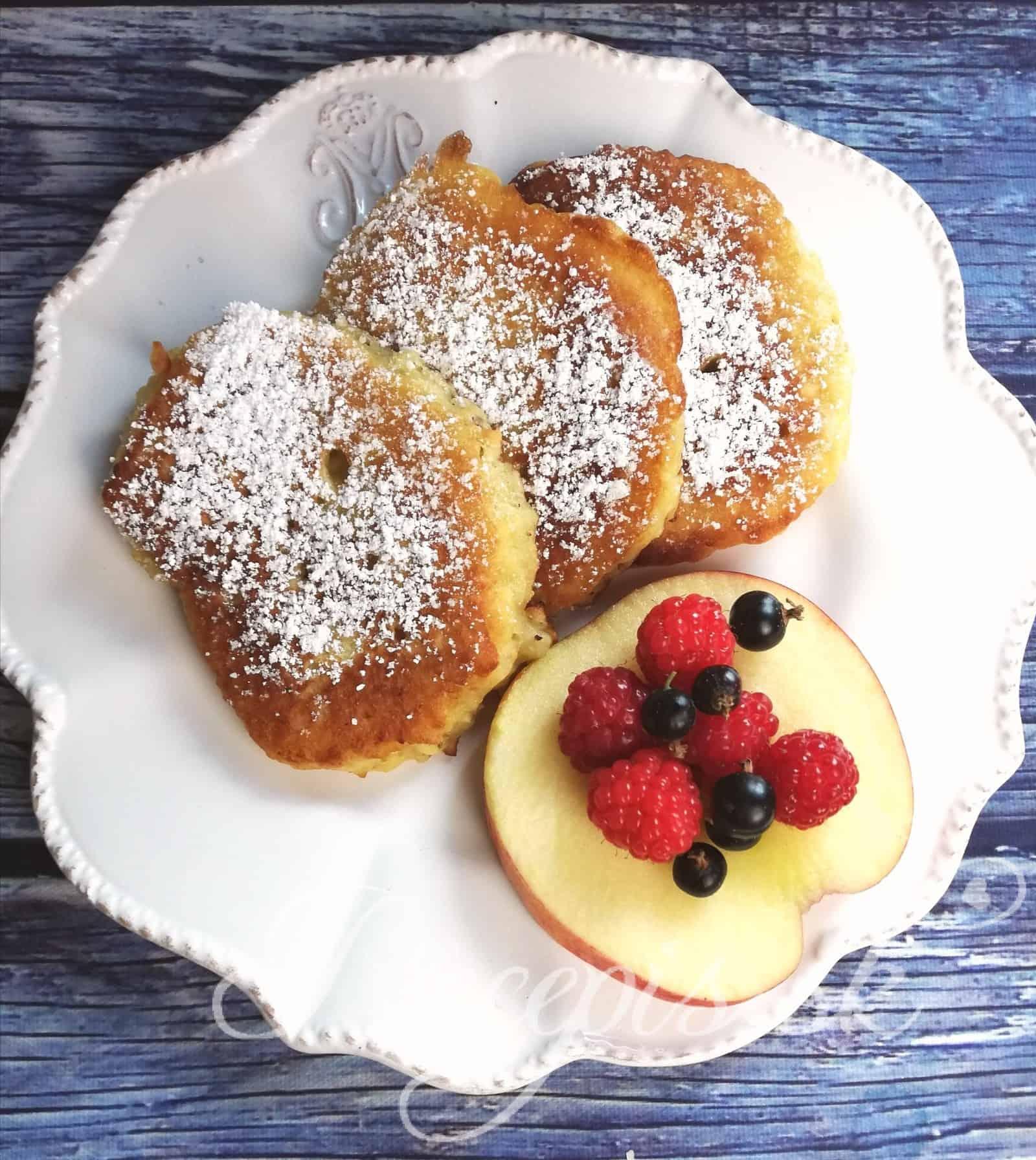 Schnelle Apfelpfannenkuchen (ohne Wiegen)