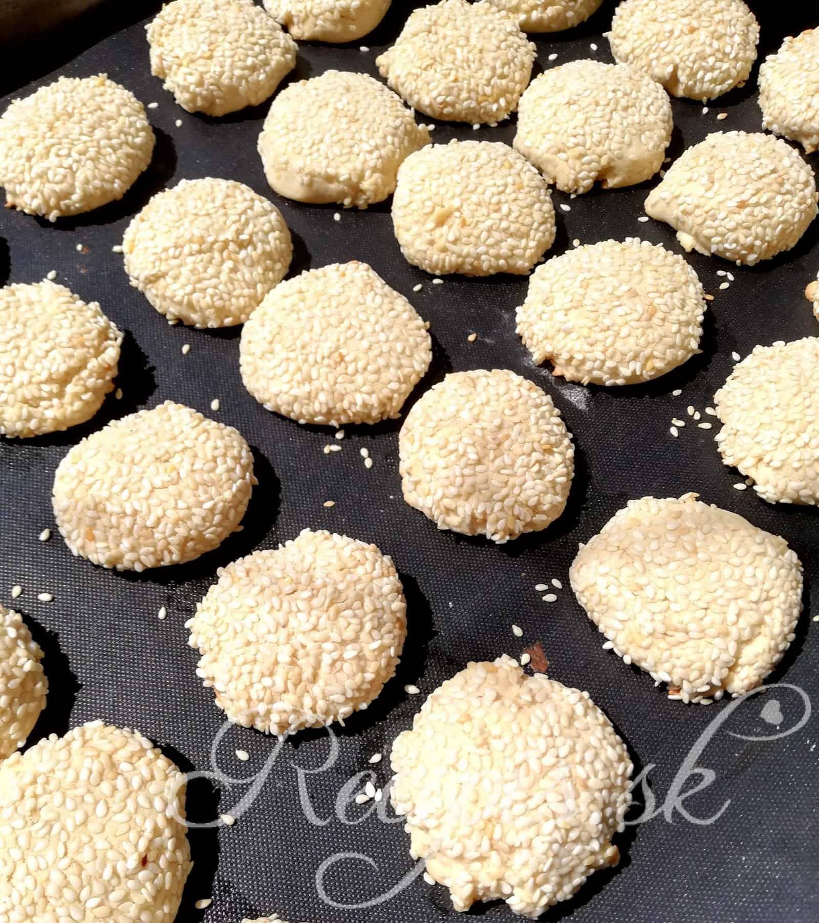 Sezamové keksíky (bez váženia)