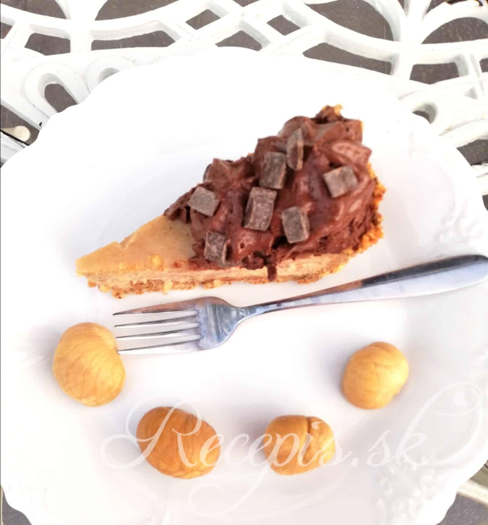 Gaštanový Cheesecake bez váženia