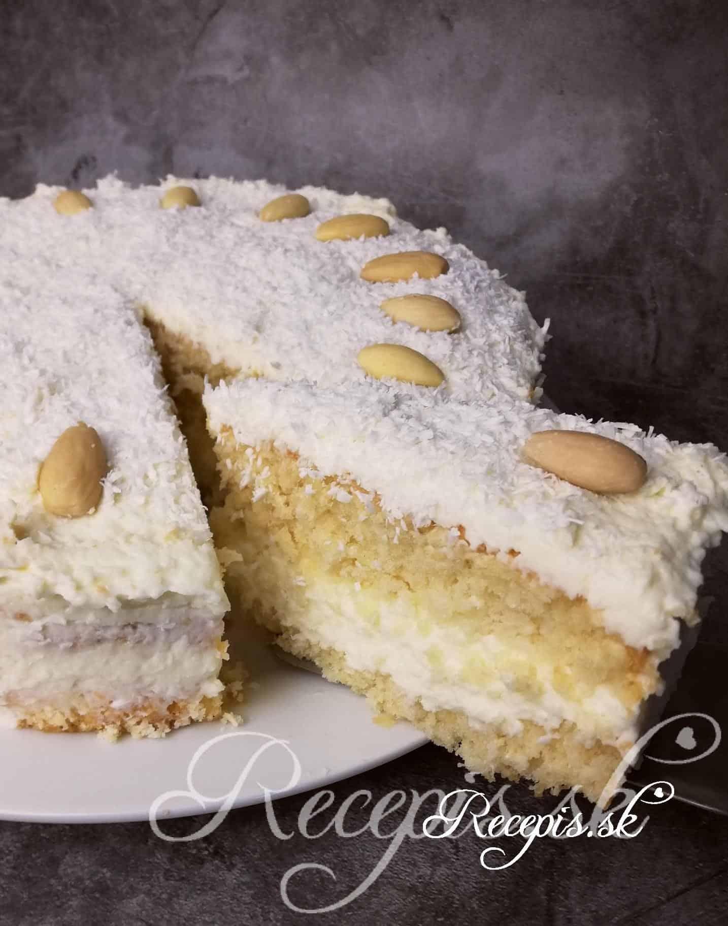 Jednoduchá kokosová torta