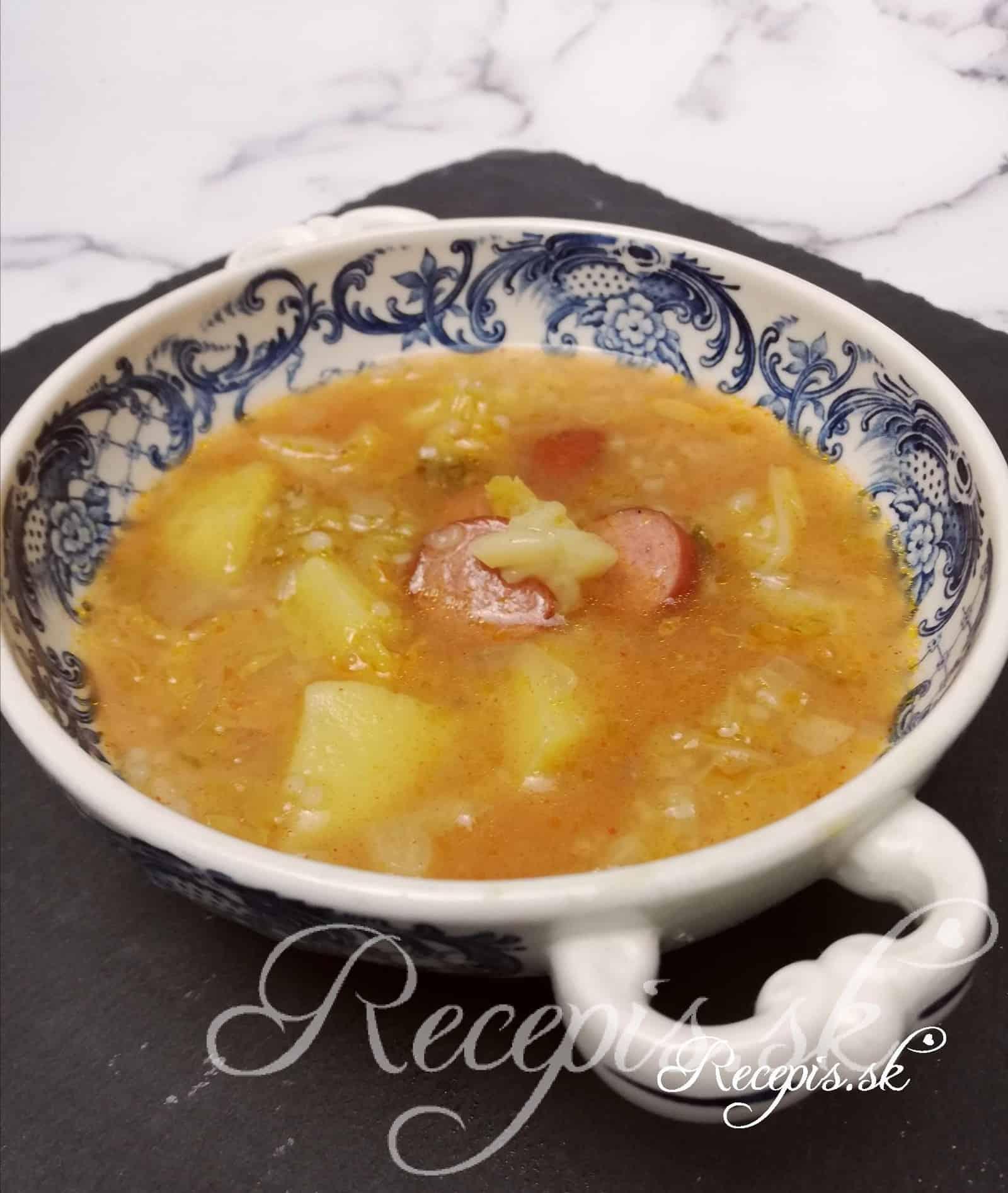 Kelová polievka s krúpami