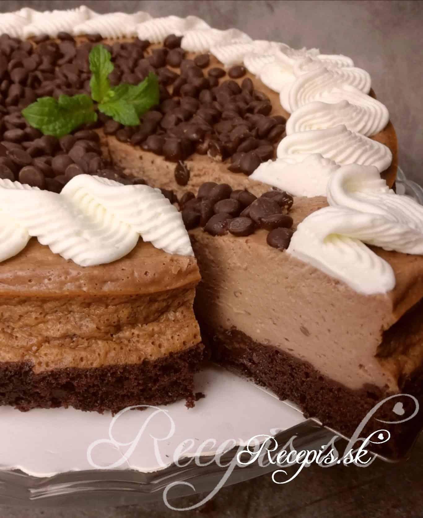 Vysoký čokoládový cheesecake