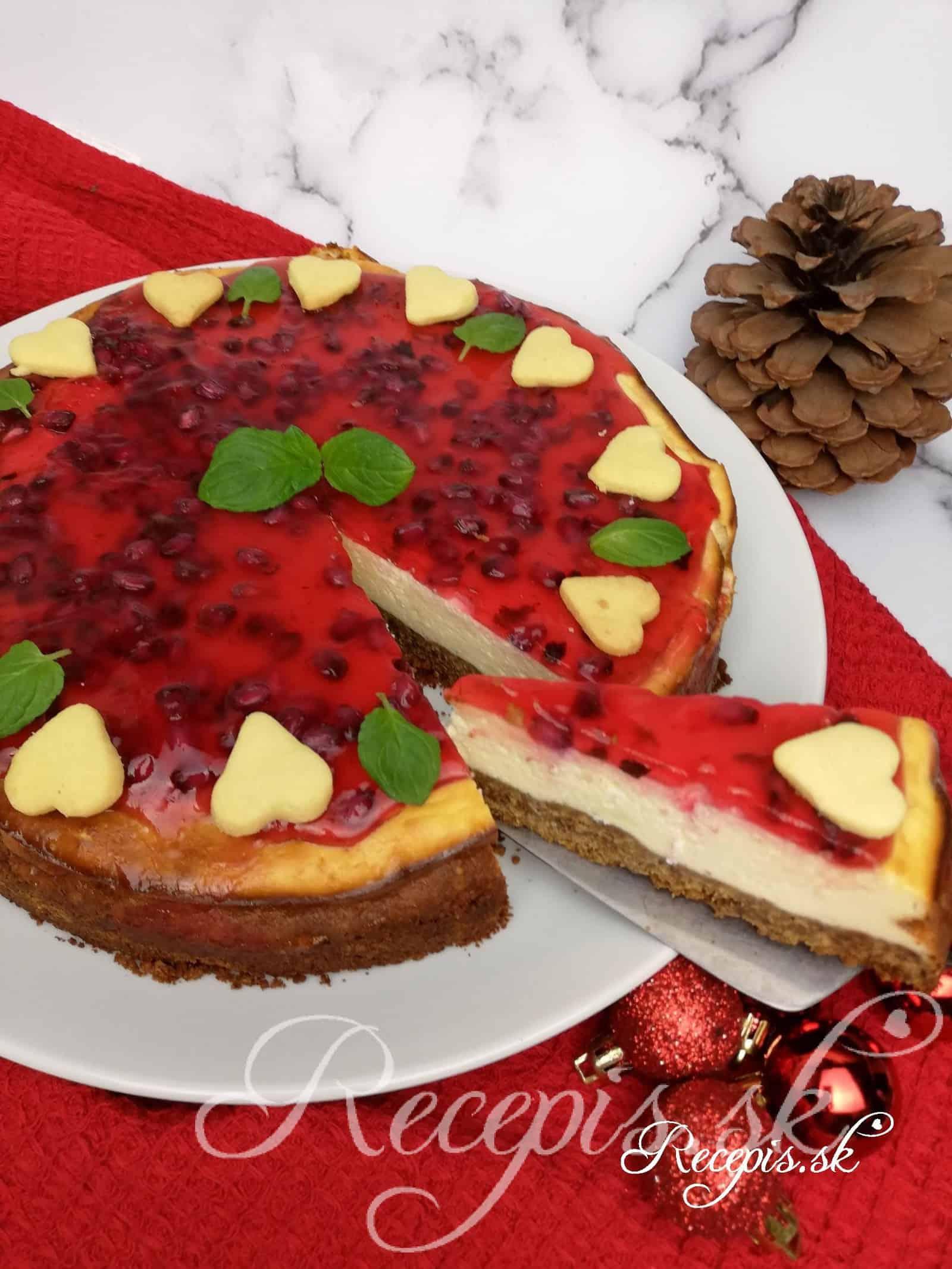 Zimný cheesecake z medovníkov