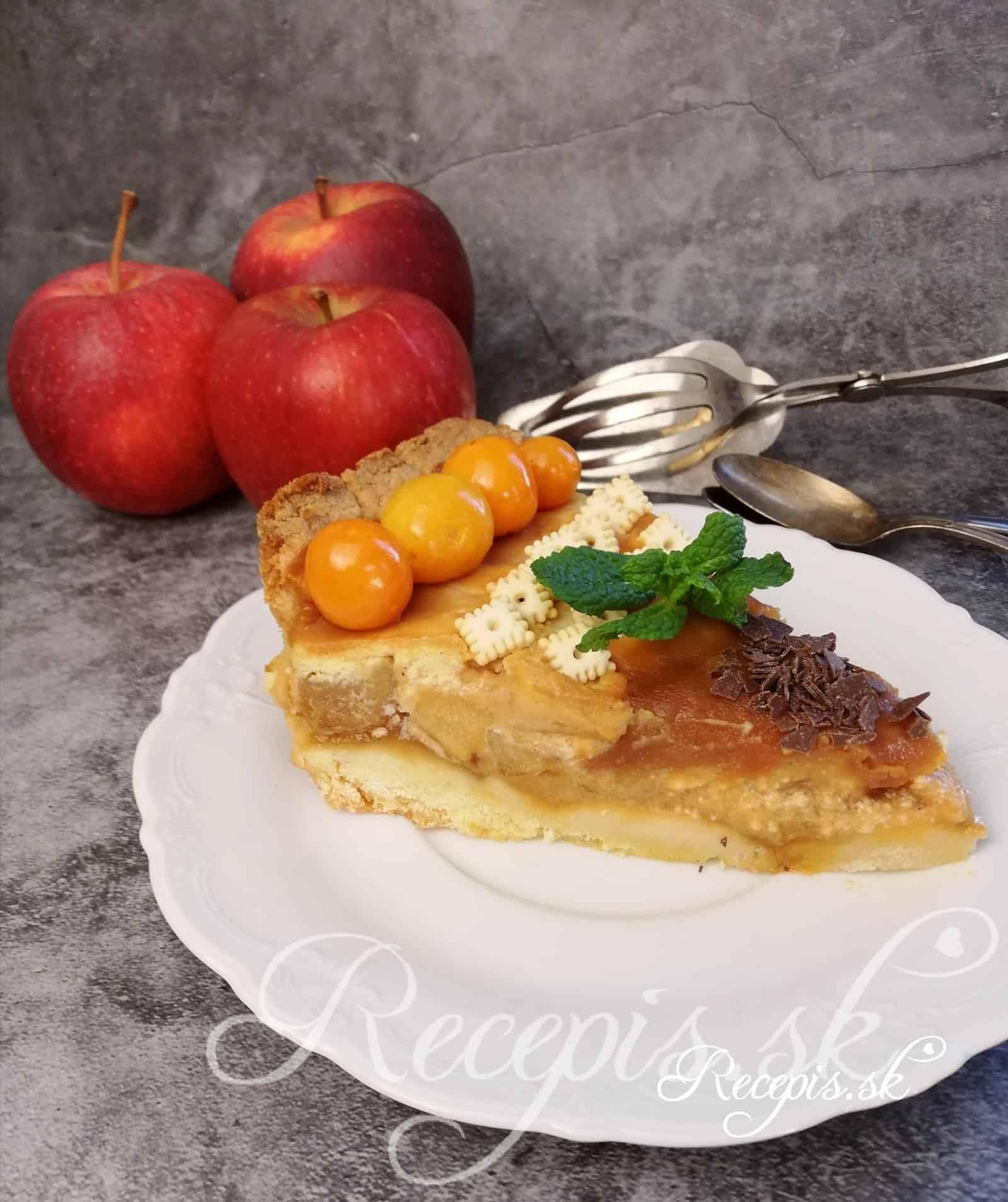 Babičkin jablkový koláč s karamelovou polevou