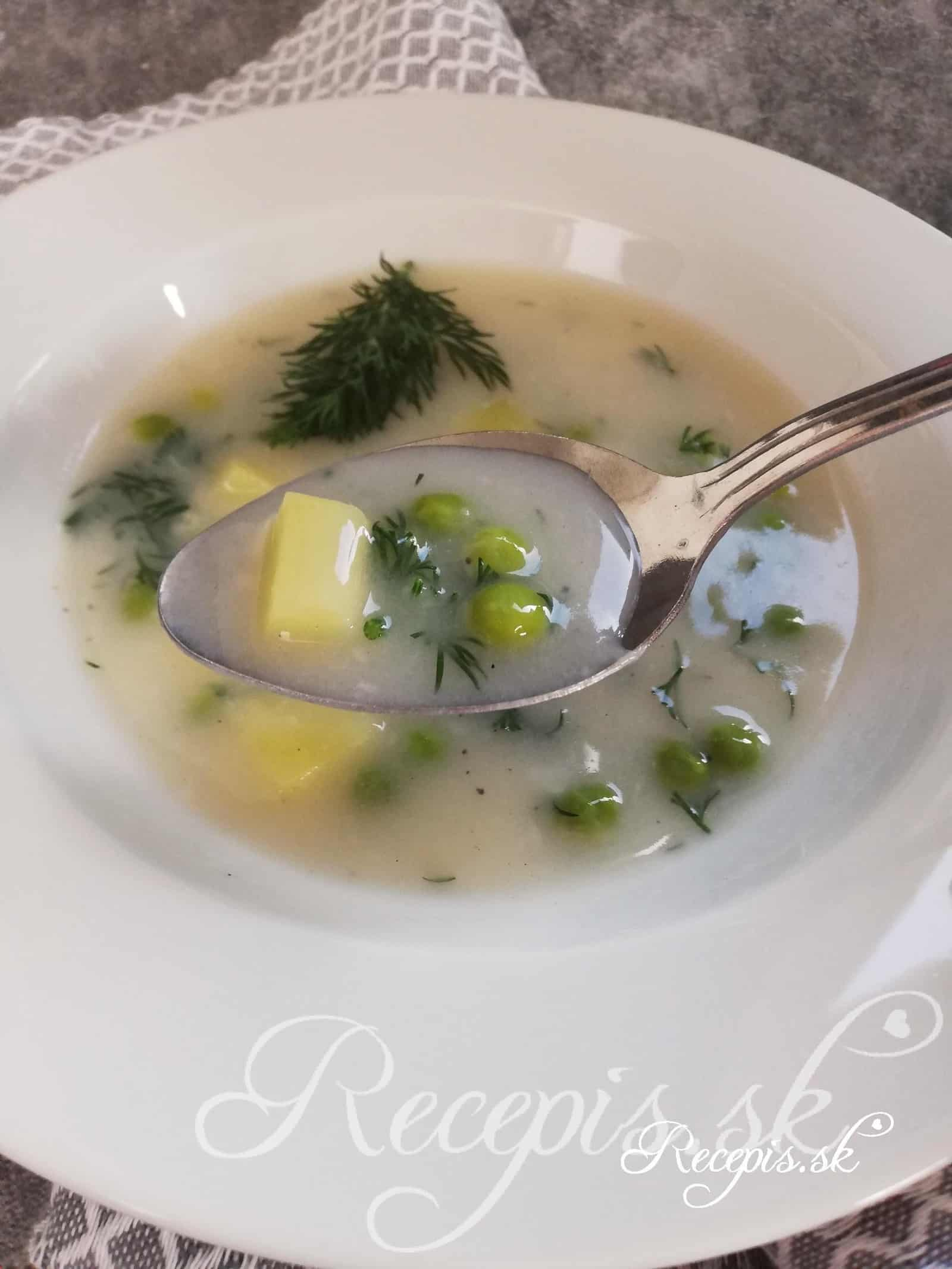 Hrášková mliečna polievka ako od babky