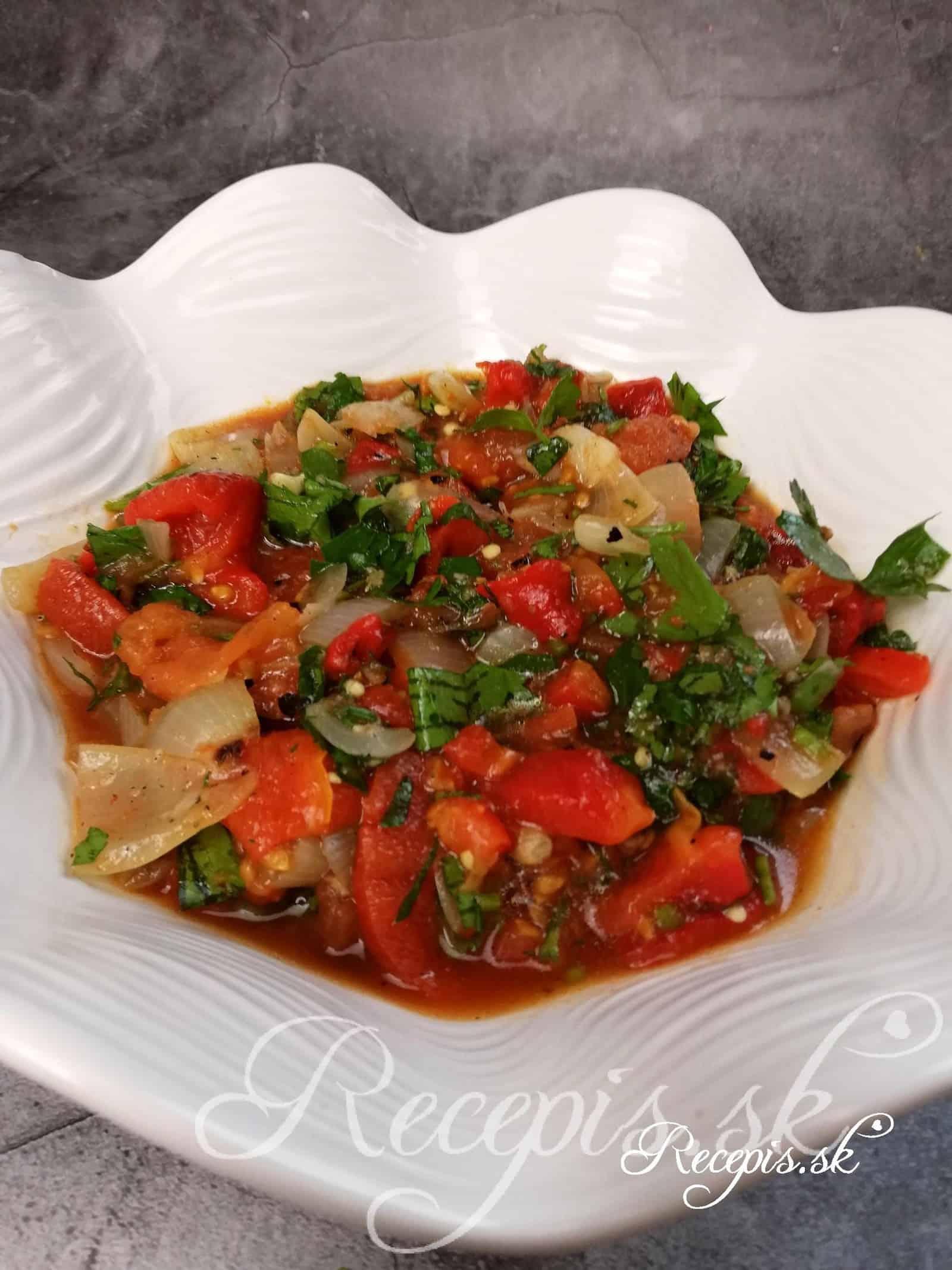 Šalát z grilovanej zeleniny