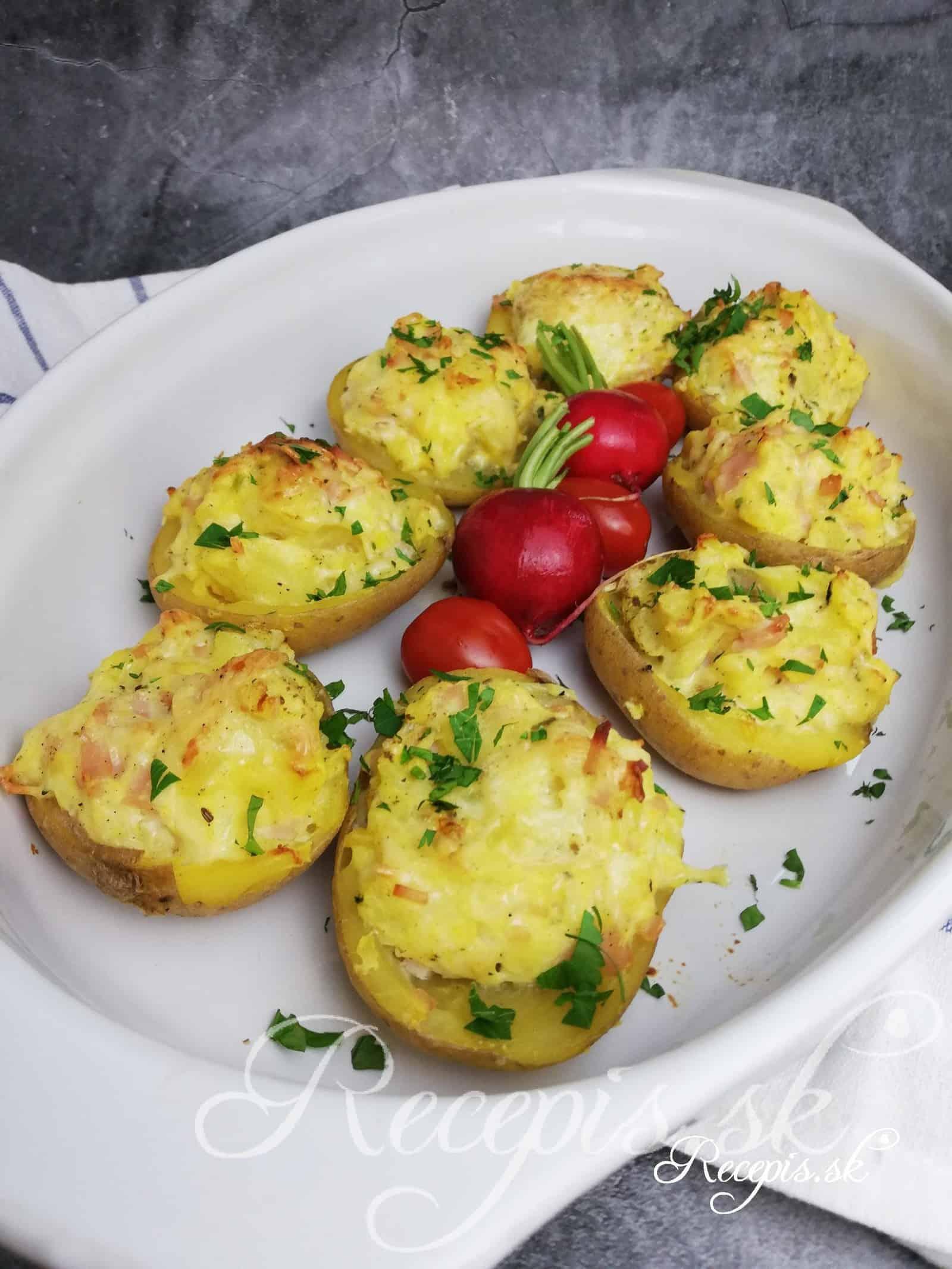 Pečené plnené zemiaky