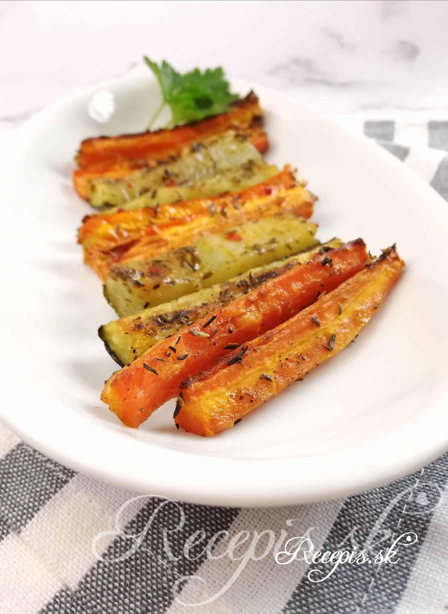 Zeleninové hranolky z trúby