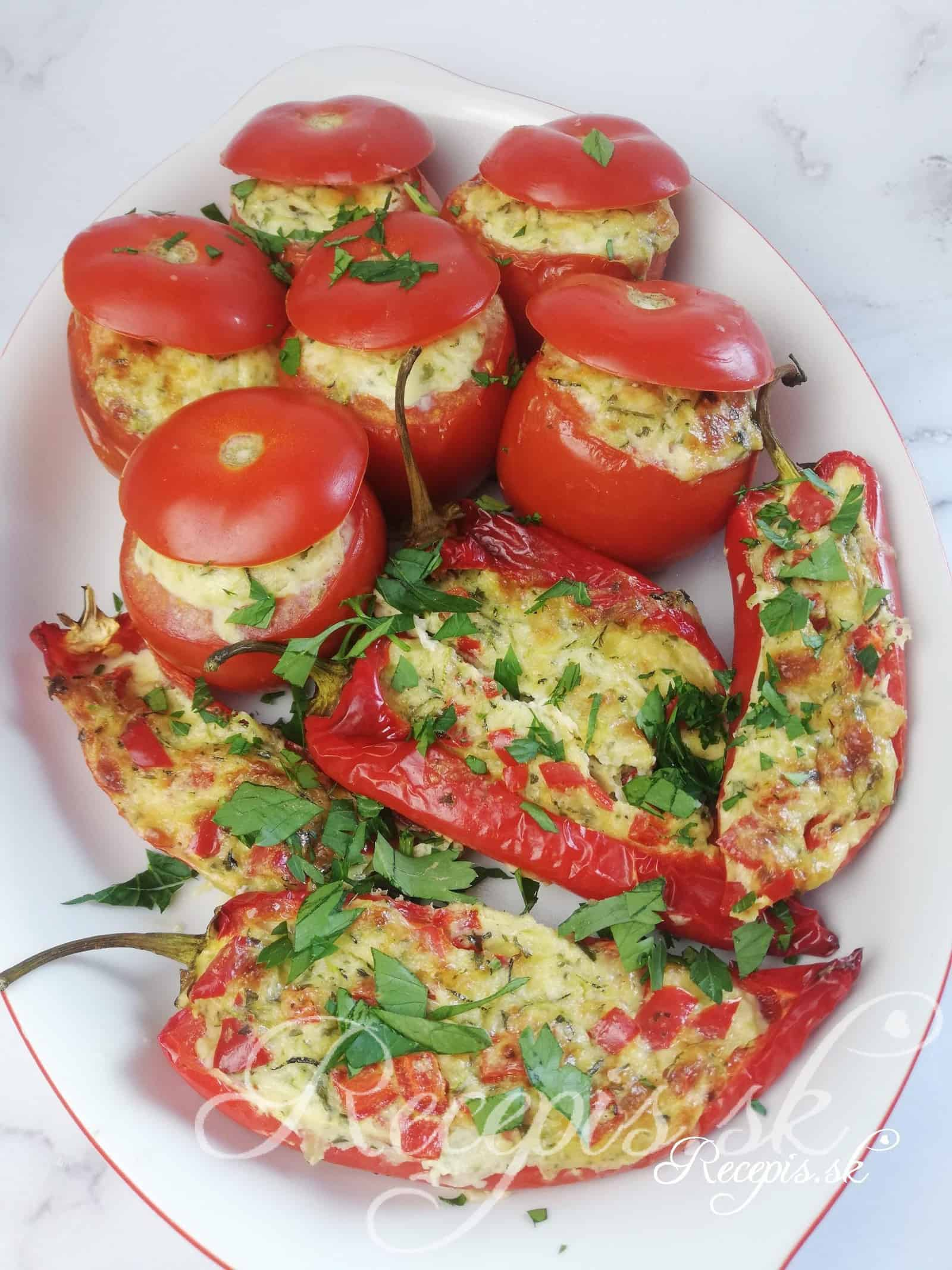 Pečené paradajky plnené cuketovou plnkou