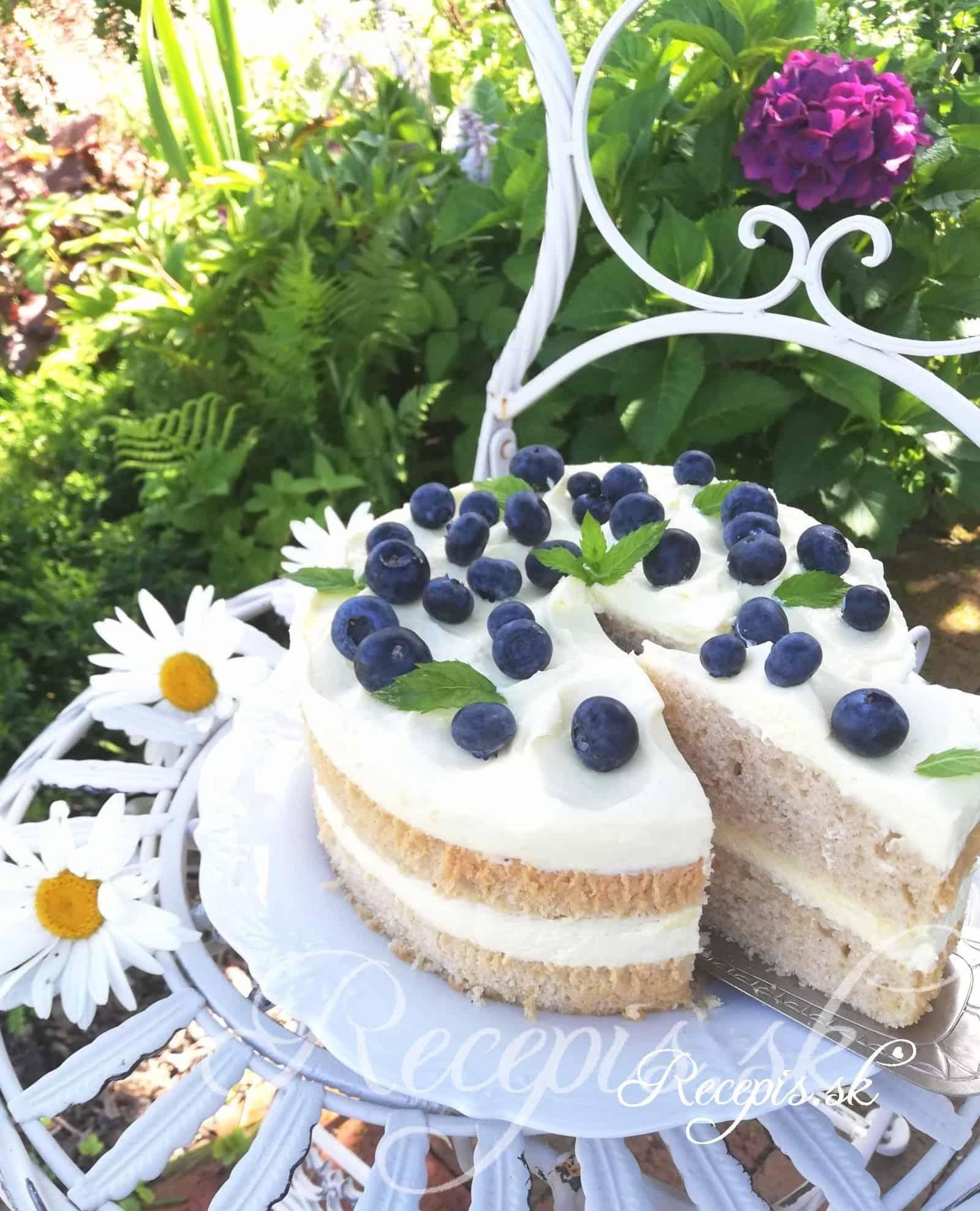 Jednoduchá torta s citrónovou plnkou