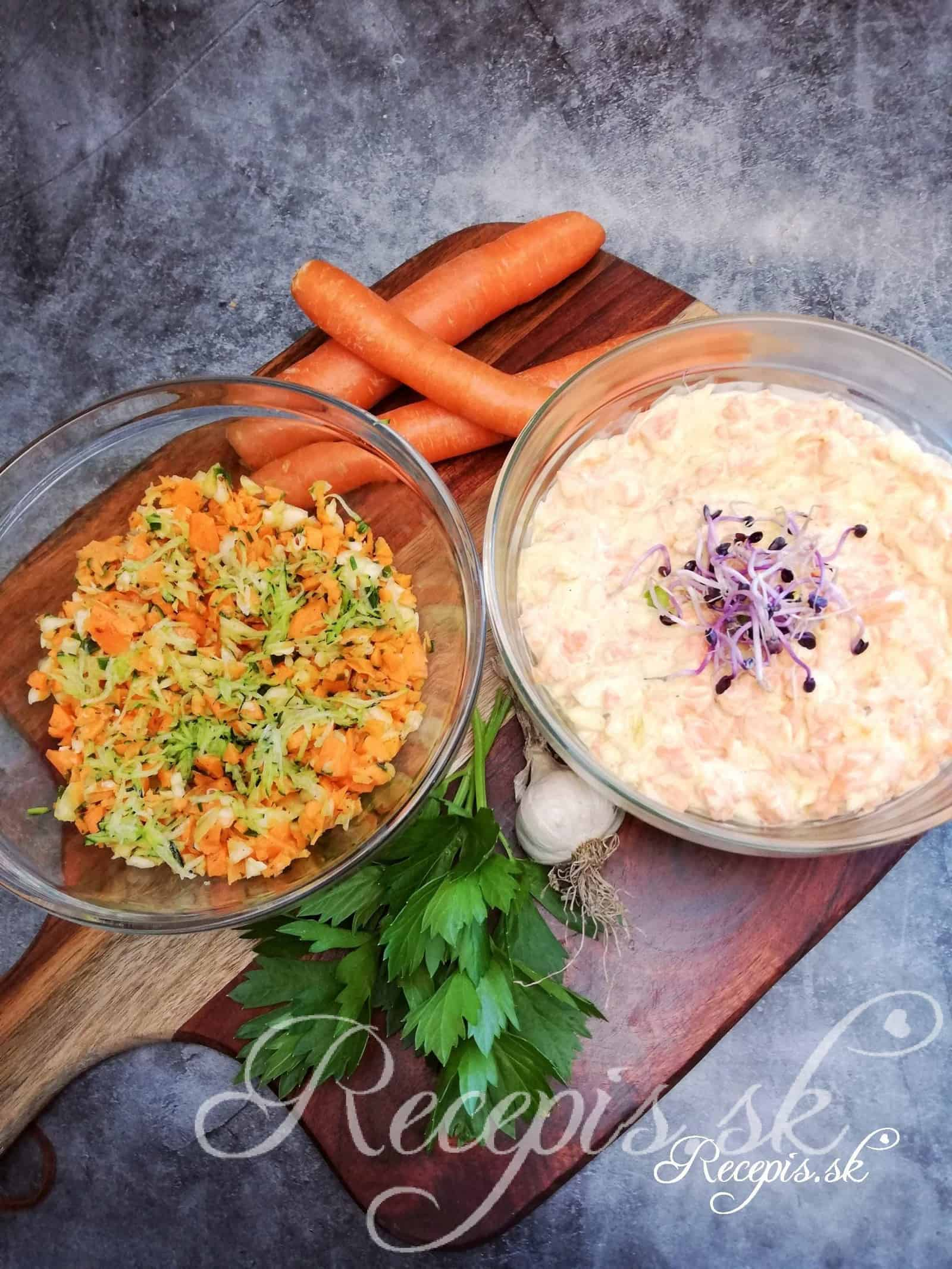 2 mrkvové šaláty z rovnakého základu